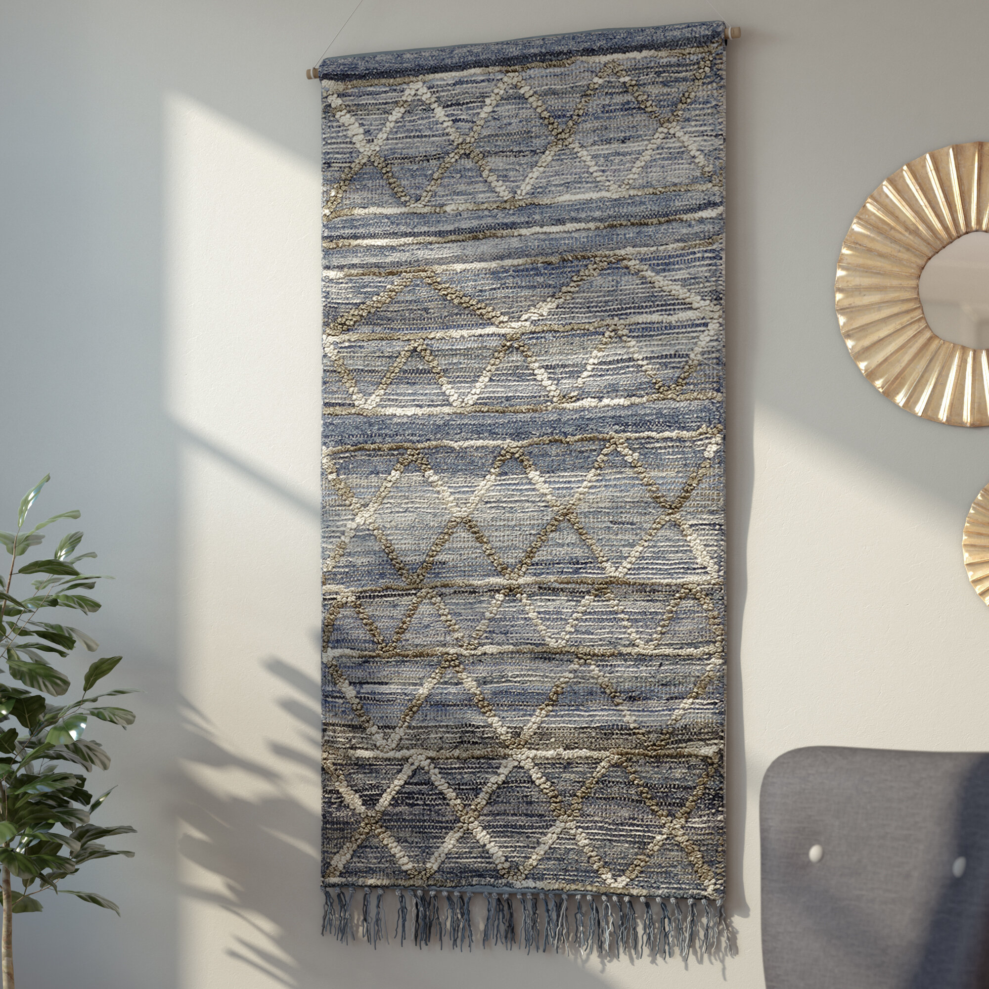 Blended Fabric Wall Hanging With Hanging Accessories In Newest Blended Fabric Living Life Tapestries (View 3 of 20)