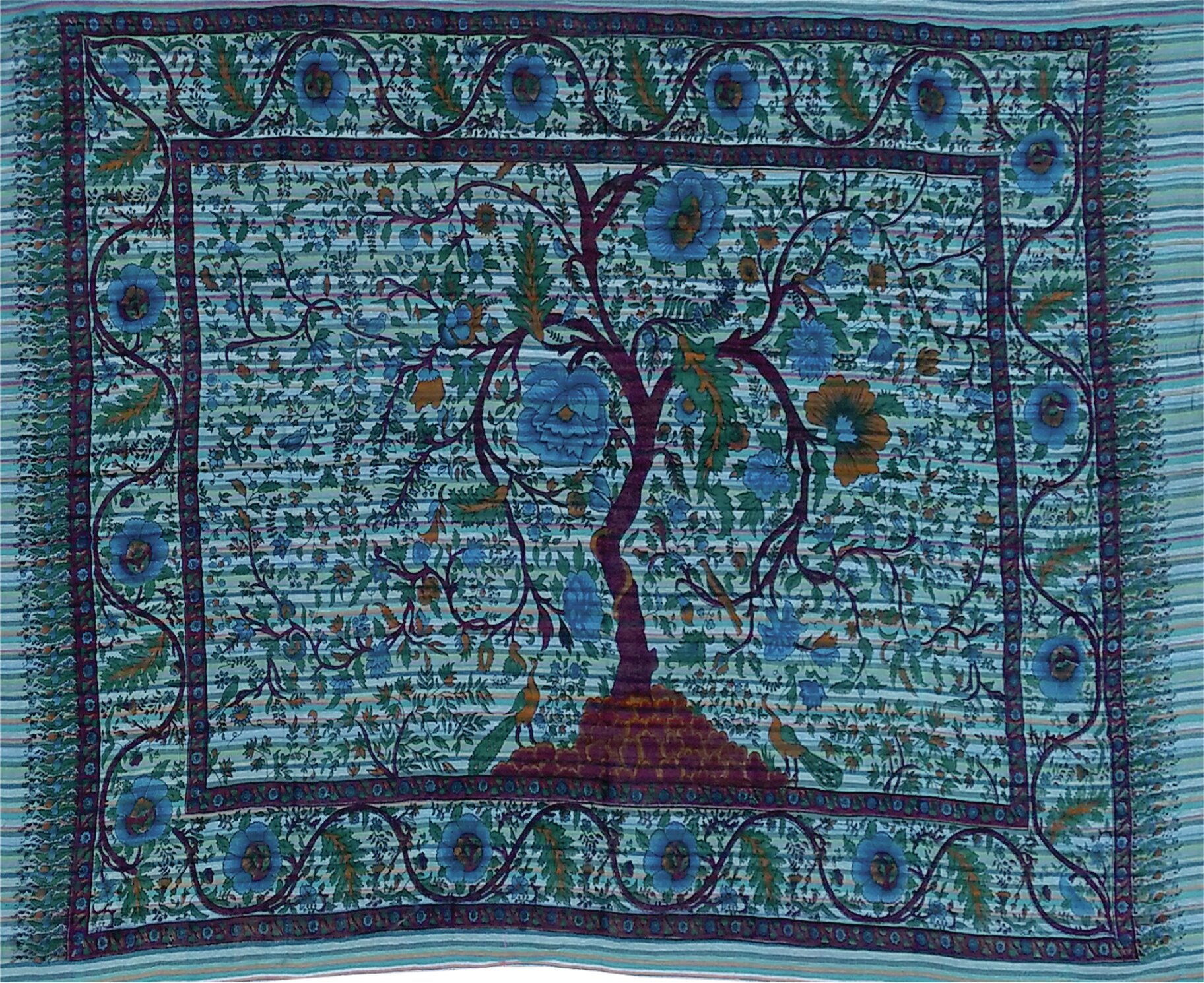 Bloomsbury Market Cotton Horizontal Tree Of Life Wall Inside Most Up To Date Blended Fabric Clancy Wool And Cotton Wall Hangings With Hanging Accessories Included (View 8 of 20)