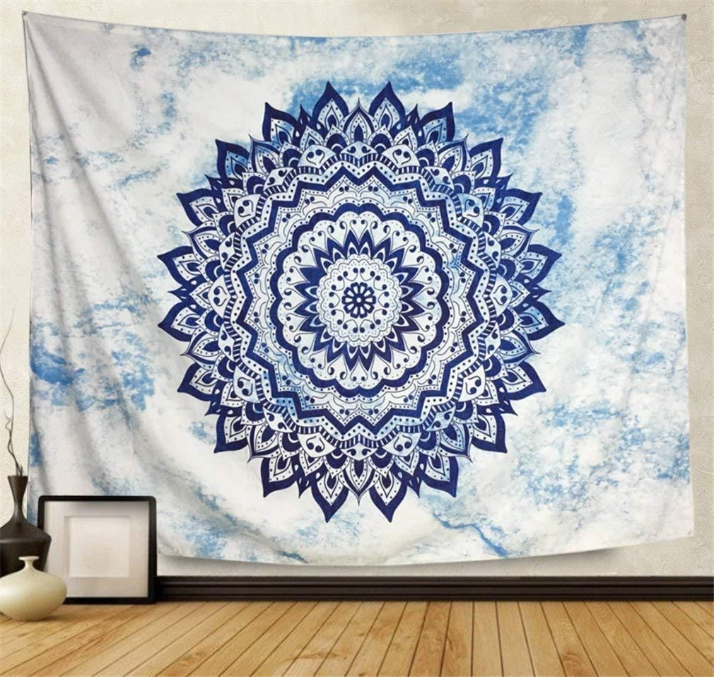 Blue Diamond Tapestry | Wall Tapestry Bedroom, Blue Tapestry For Most Current Blended Fabric In His Tapestries And Wall Hangings (View 10 of 20)