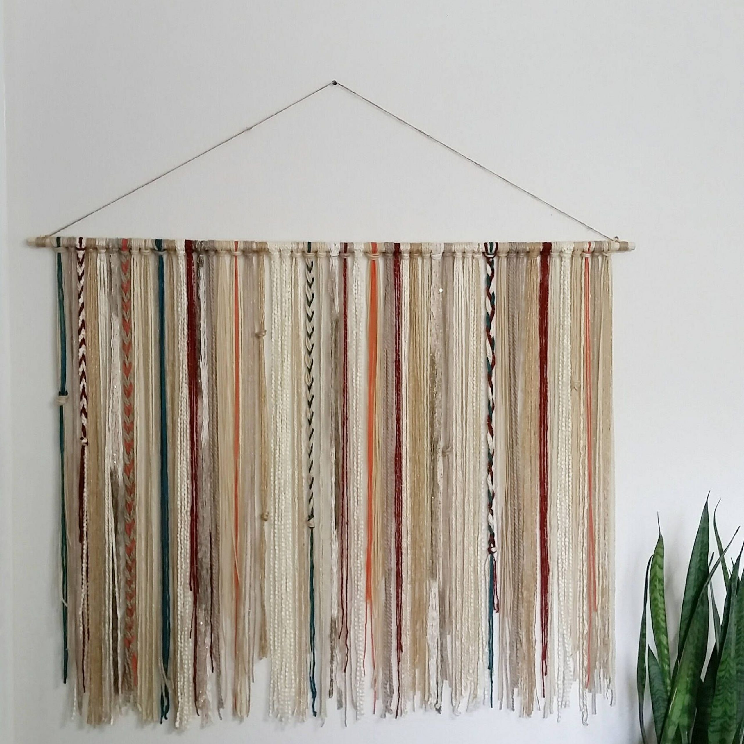 Bohemian Yarn Tapestry Yarn Wall Hanging Southwestern Wall With Regard To Recent Blended Fabric Southwestern Bohemian Wall Hangings (View 3 of 20)