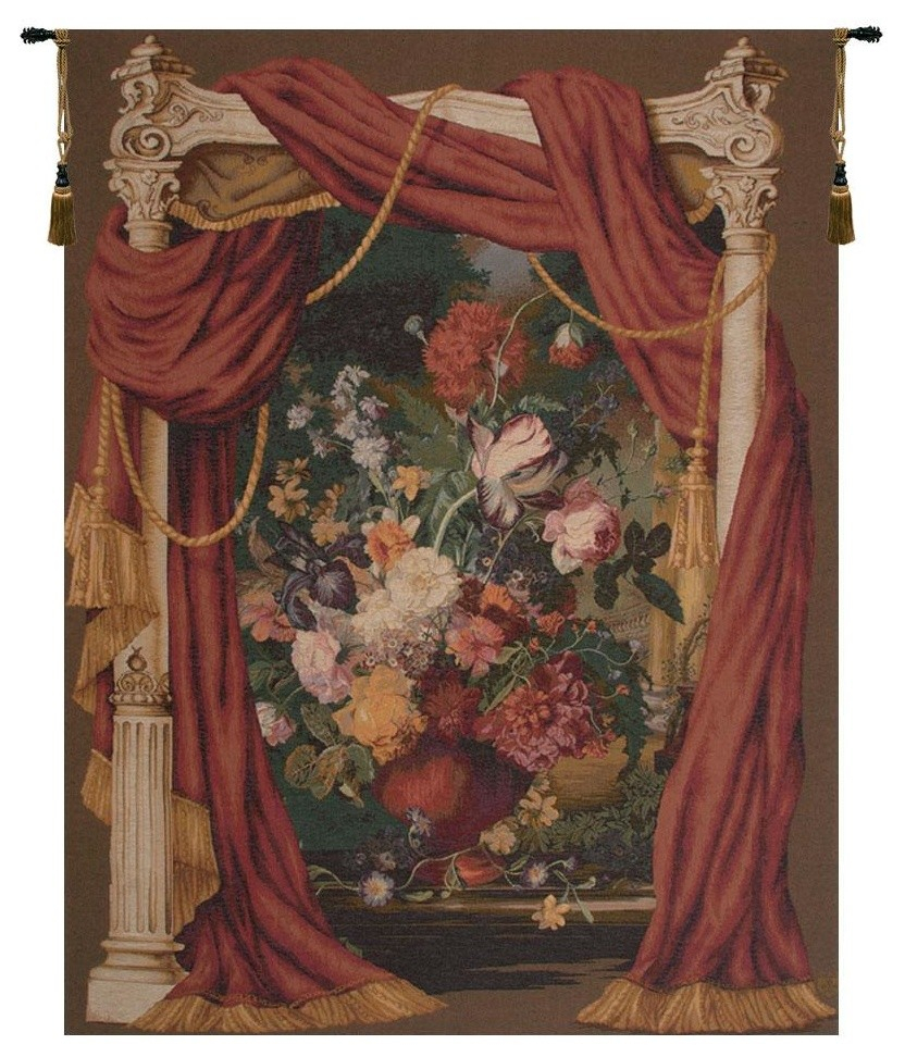 Bouquet Theatral European Tapestry Wall Hanging, B – H 58 X W 42 Inside Newest Grandes Armoiries I European Tapestries (View 16 of 20)