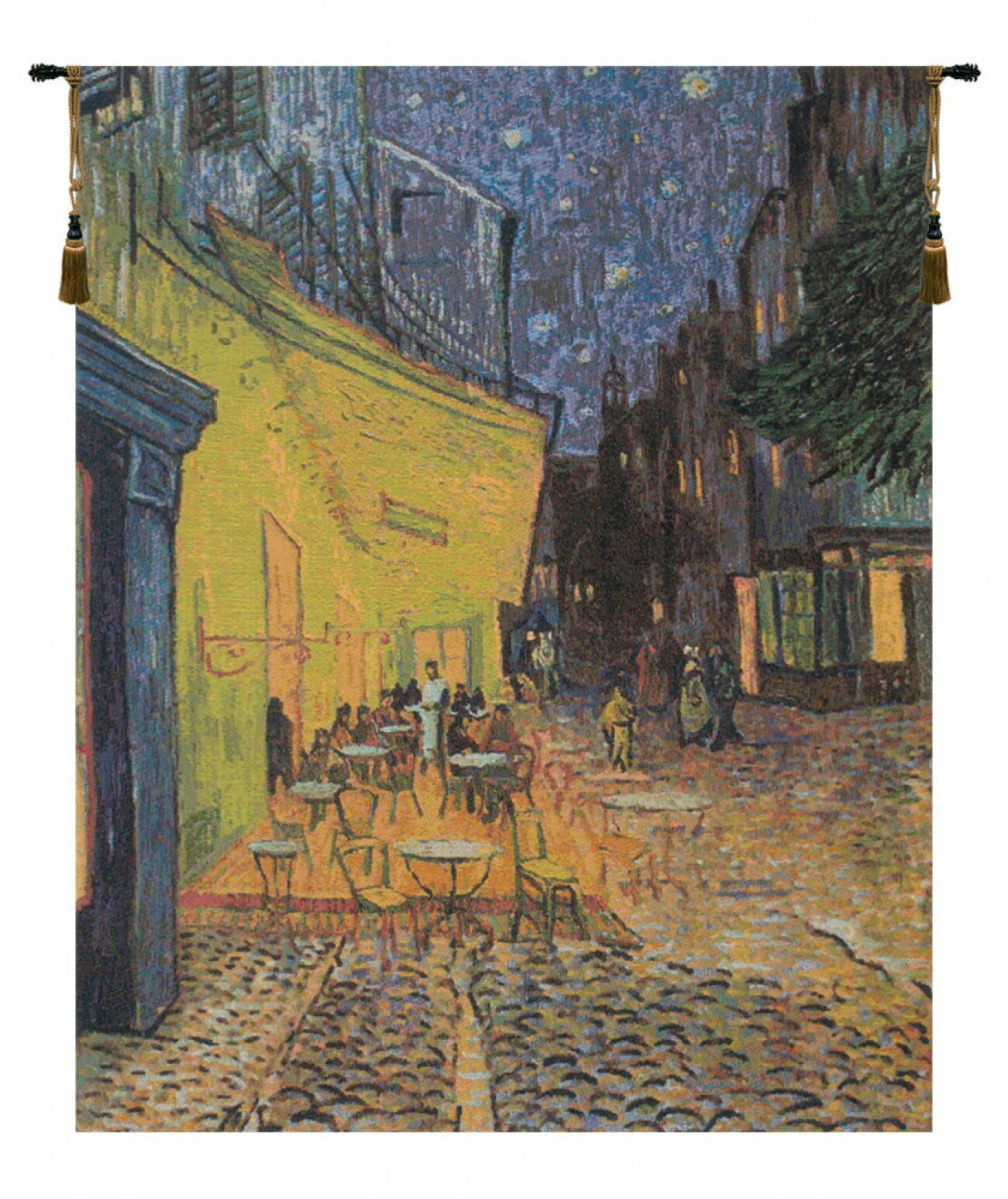 Cafe Terrace At Night 1vincent Van Gogh Tapestry Pertaining To Newest Blended Fabric Van Gogh Terrace Wall Hangings (View 2 of 20)