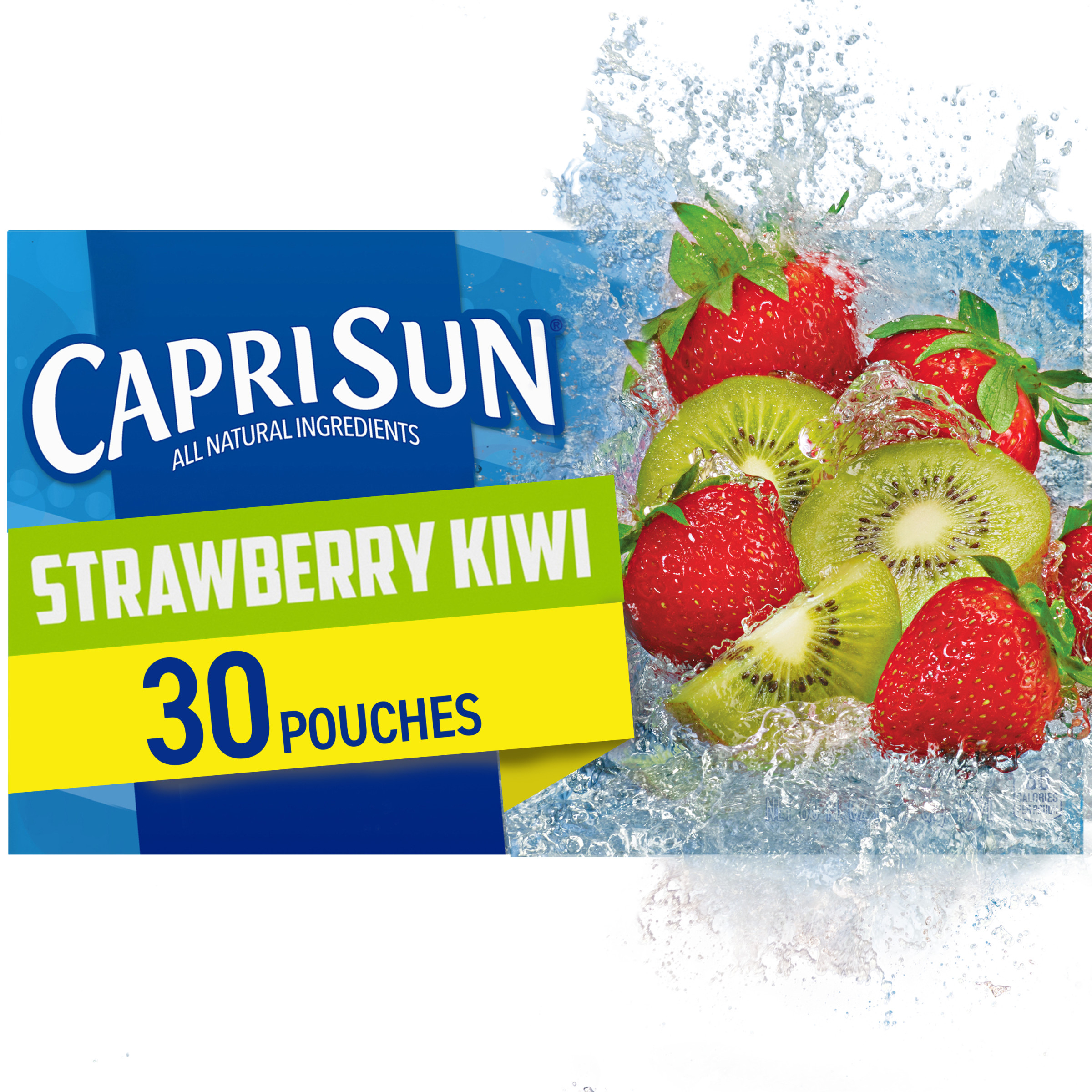 Capri Sun Strawberry Kiwi Naturally Flavored Juice Drink Blend, 30 Ct Box, 6 Fl Oz Pouches – Walmart In Best And Newest Blended Fabric Fruity Bouquets Wall Hangings (View 11 of 20)