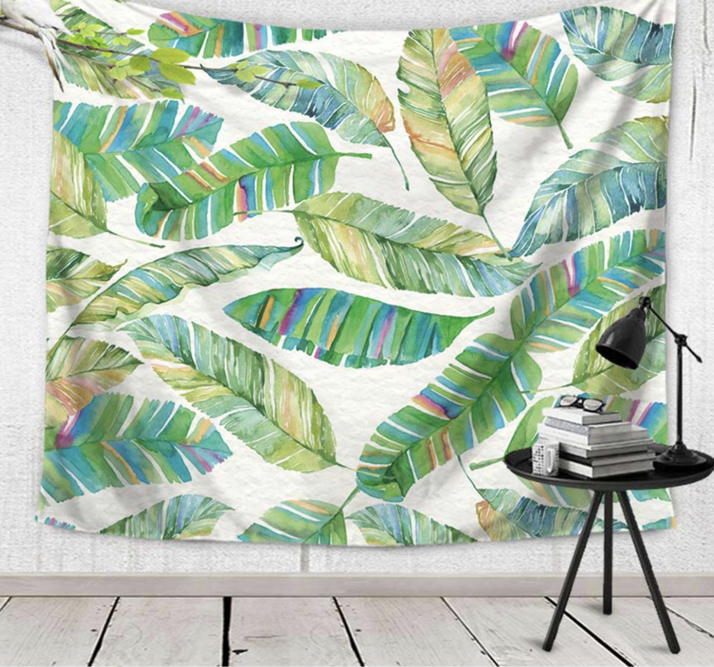 Carsa Leaf Tapestry: Nature Wall Decor | Forest Homes For Current Blended Fabric The Broken Chain Tapestries And Wall Hangings (View 10 of 20)