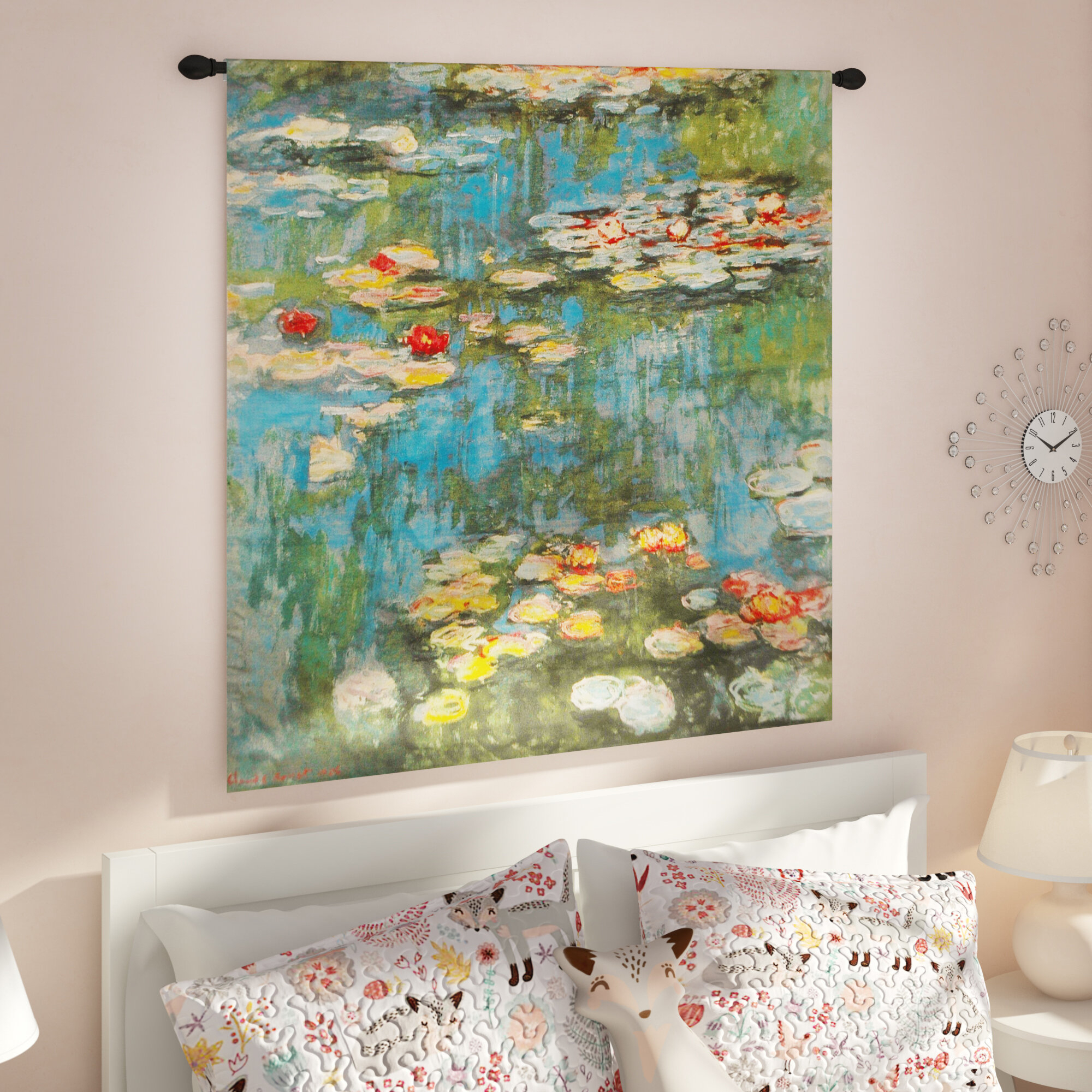 Charlton Home® Water Lilies Tapestry & Reviews   Wayfair With Regard To Most Recently Released Blended Fabric Classic French Rococo Woven Tapestries (View 16 of 20)