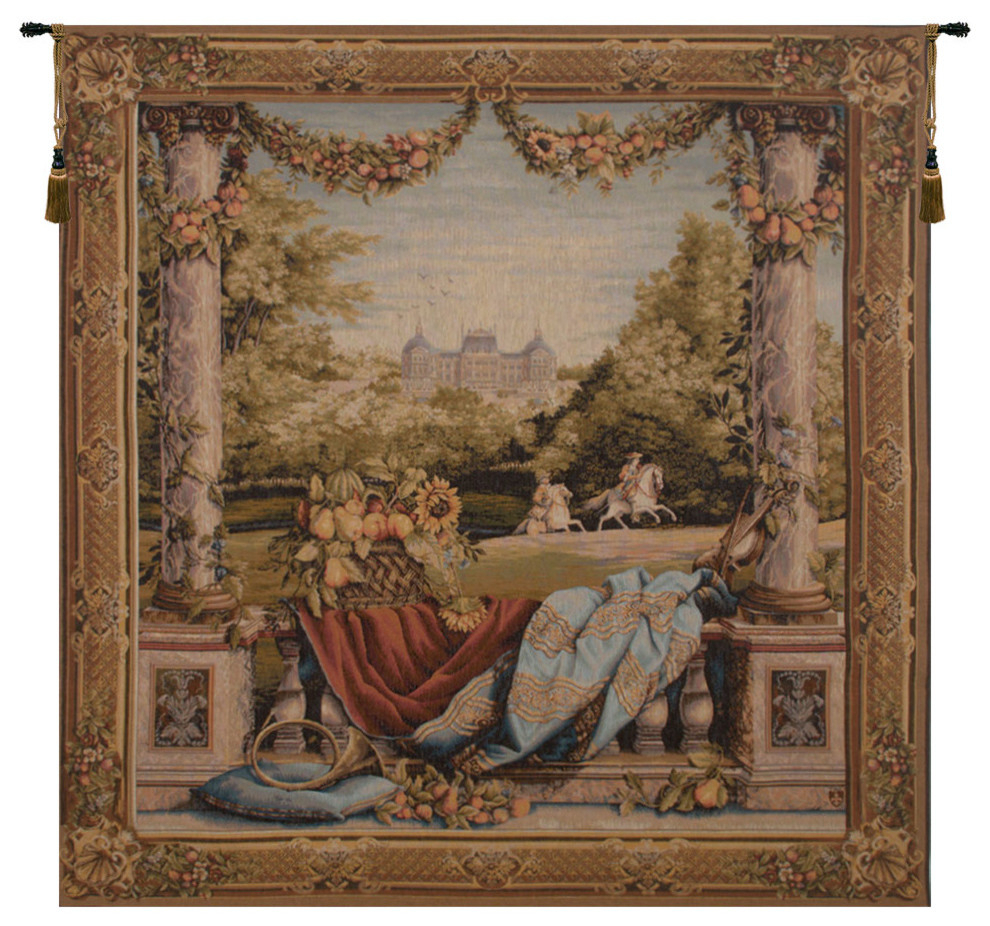 Chateau Bellevue European Tapestry Wall Hanging Pertaining To Current Grandes Armoiries I European Tapestries (View 3 of 20)