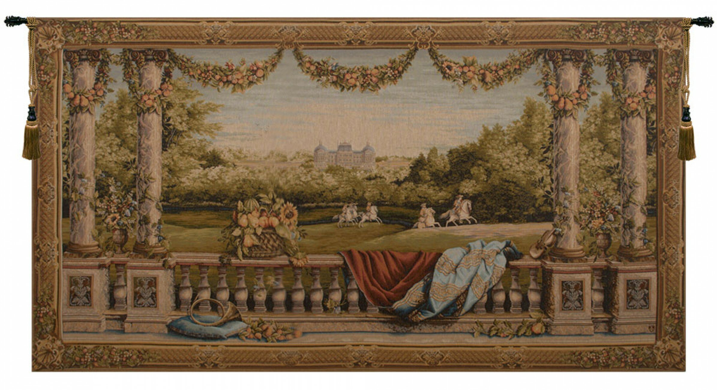 Chateau Bellevue I European Tapestry With Regard To 2018 Blended Fabric Chateau Bellevue European Tapestries (View 2 of 20)