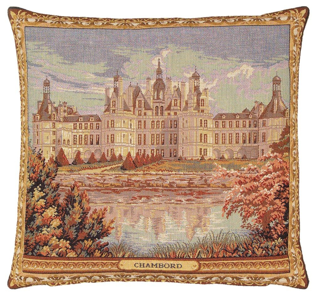Chateau Chambord Pillow Cover Inside Newest Chambord Castle I European Wall Hangings (View 2 of 20)