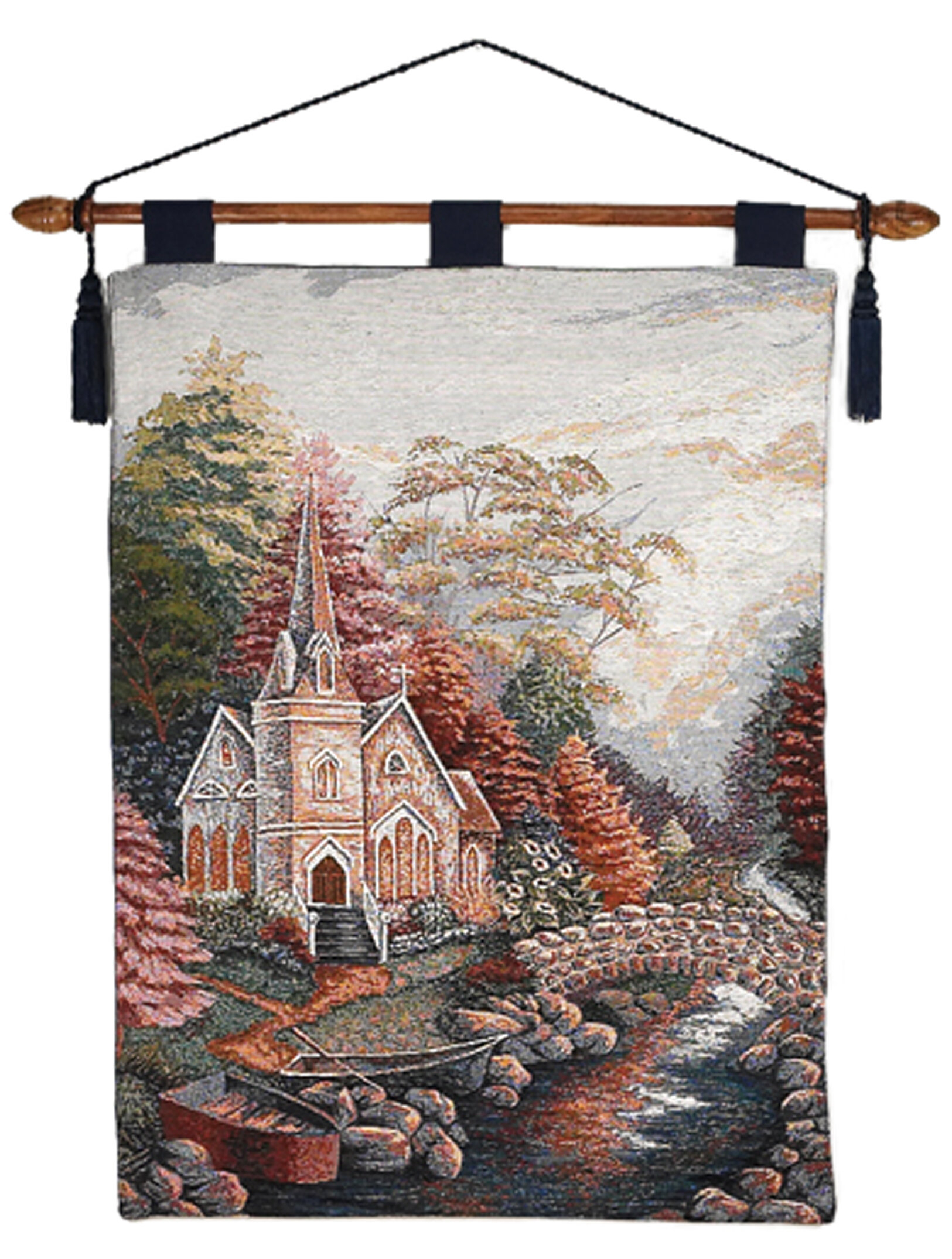 Church Wall Hanging Intended For 2018 Blended Fabric Autumn Tranquility Verse Wall Hangings (View 4 of 20)