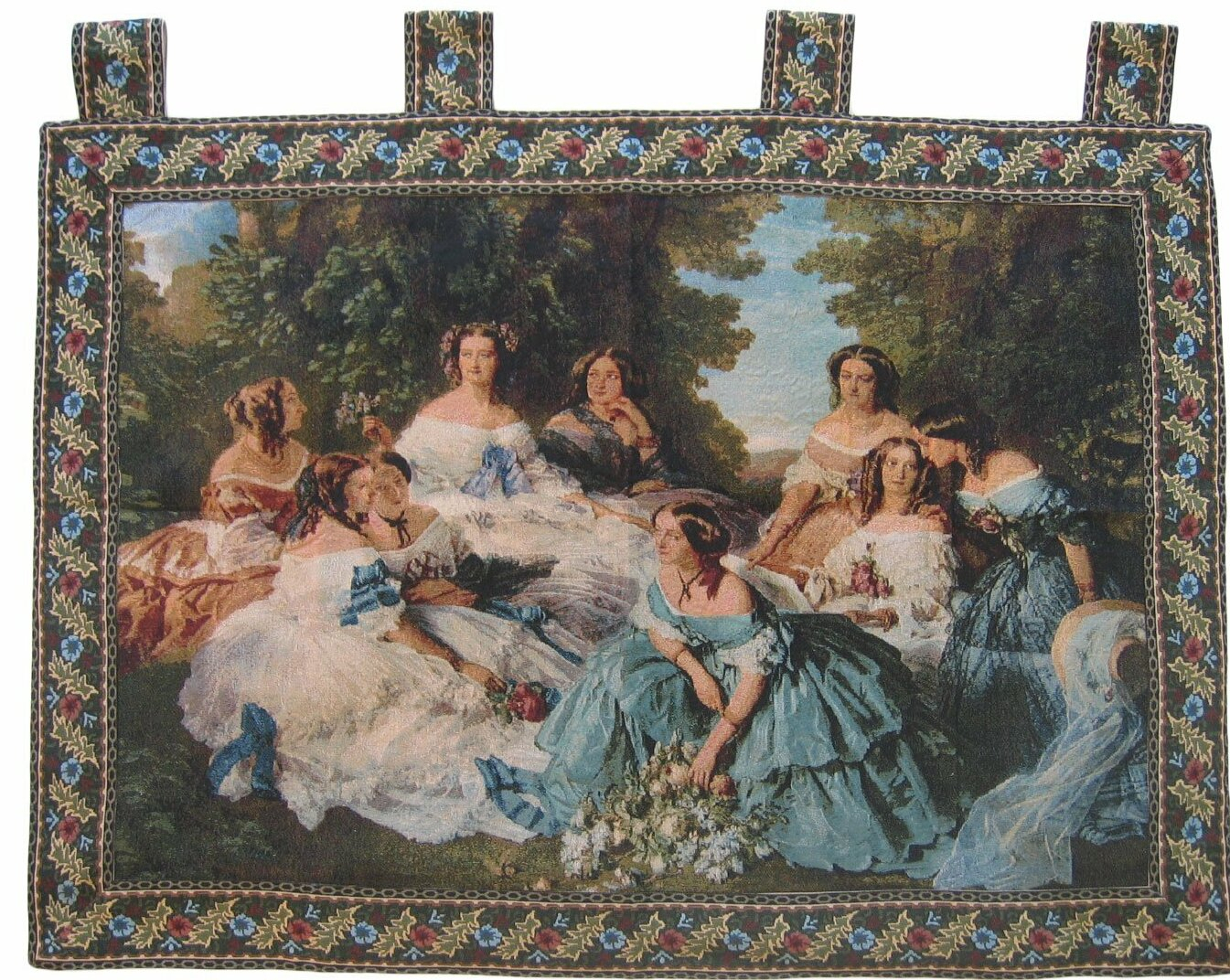 Classic French Rococo Woven Tapestry Pertaining To Most Popular Blended Fabric Breeze Of Admiration Woven Tapestries (View 2 of 20)