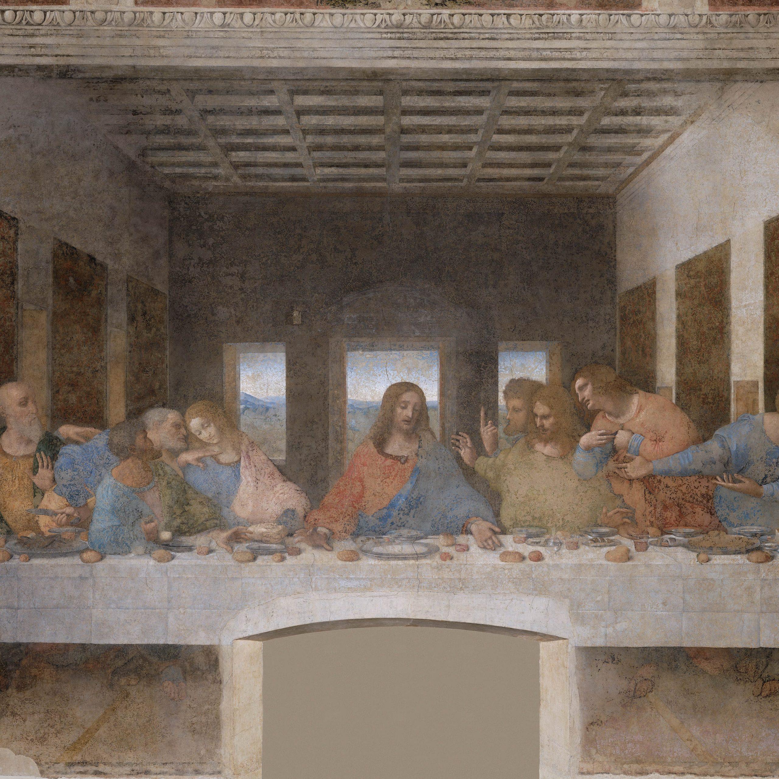 Conservation Restoration Of Leonardo Da Vinci's The Last Inside Most Recent Blended Fabric Leonardo Davinci The Last Supper Wall Hangings (View 5 of 20)