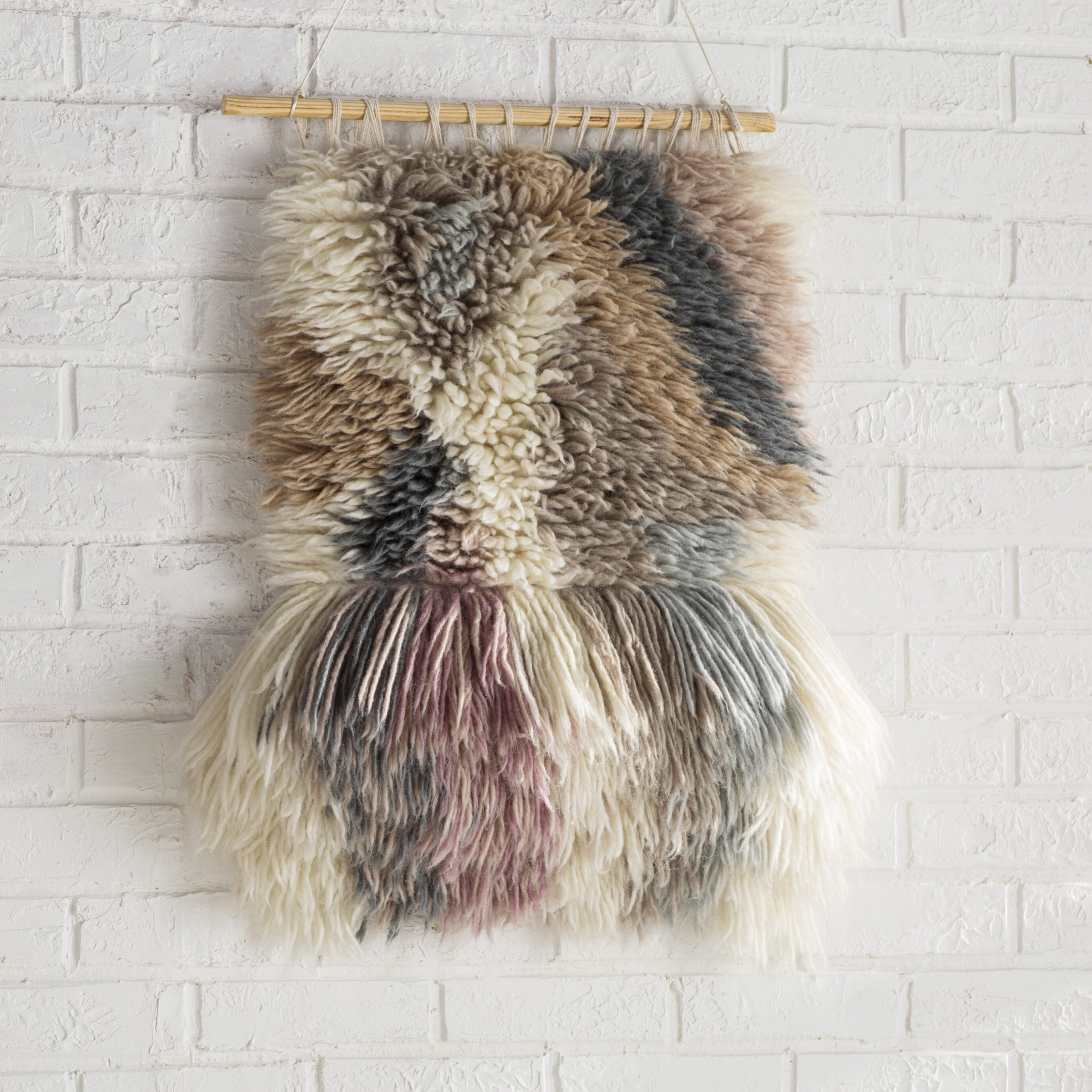 Contemporary Hand Woven Wall Hanging Regarding Most Recent Blended Fabric Saber Wall Hangings With Rod (View 16 of 20)
