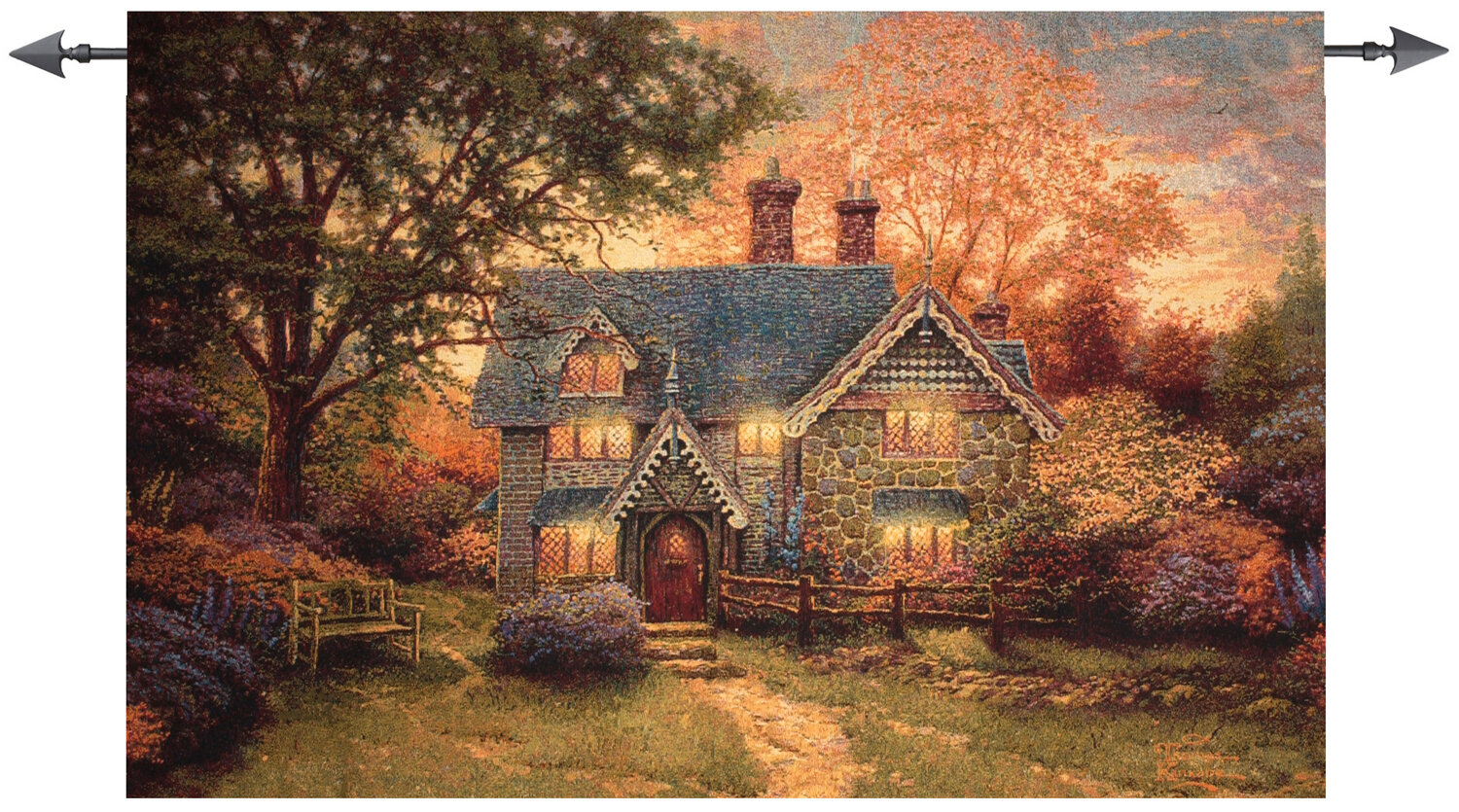 Cottage Tapestry For Most Recent Blended Fabric Autumn Tranquility Verse Wall Hangings (View 3 of 20)
