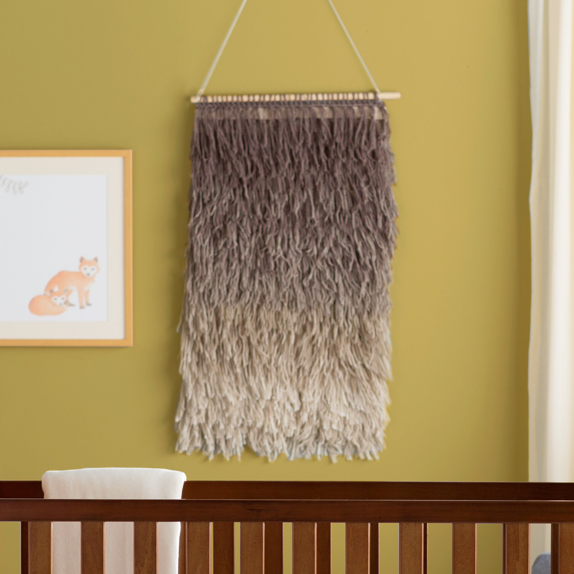 Cotton Destrie Wall Hanging With Rod Included For Most Recent Blended Fabric Saber Wall Hangings With Rod (View 4 of 20)