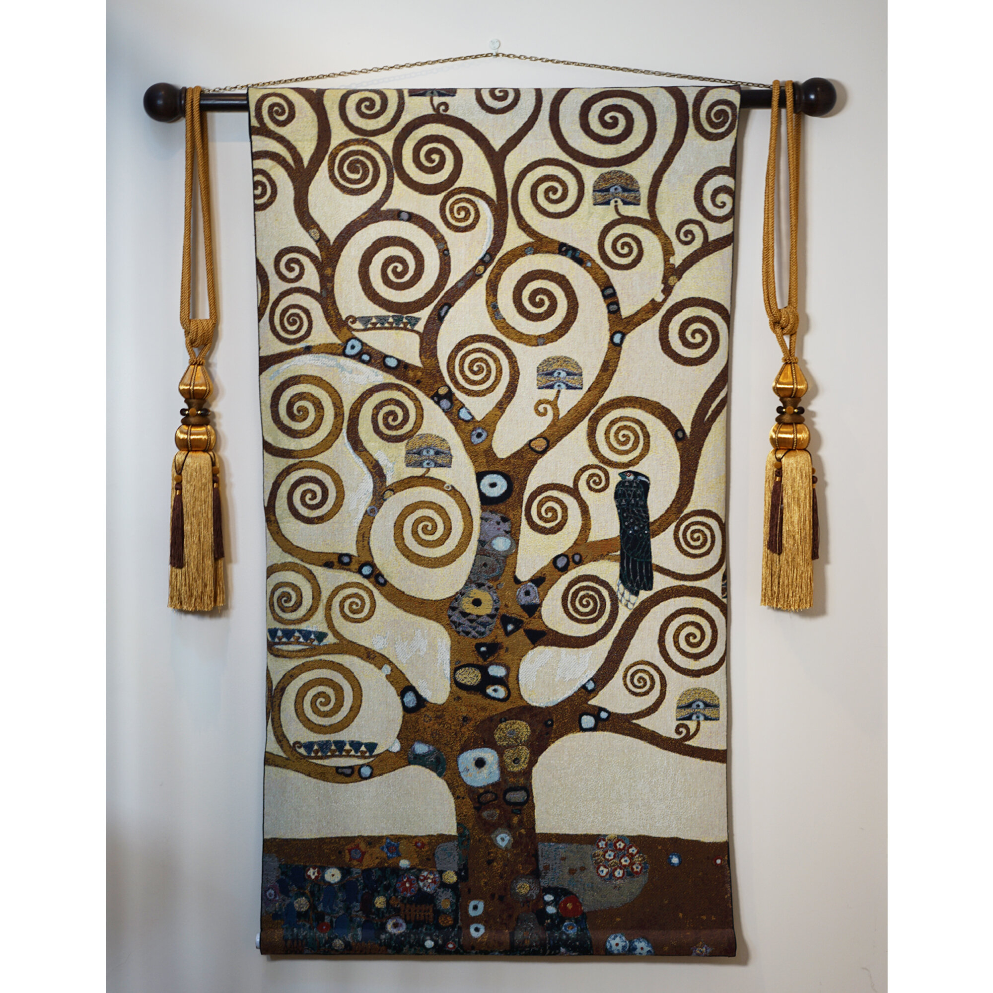 Cotton Klimt Tree Of Life Wall Hanging With Regard To Current Blended Fabric Klimt Tree Of Life Wall Hangings (View 2 of 20)