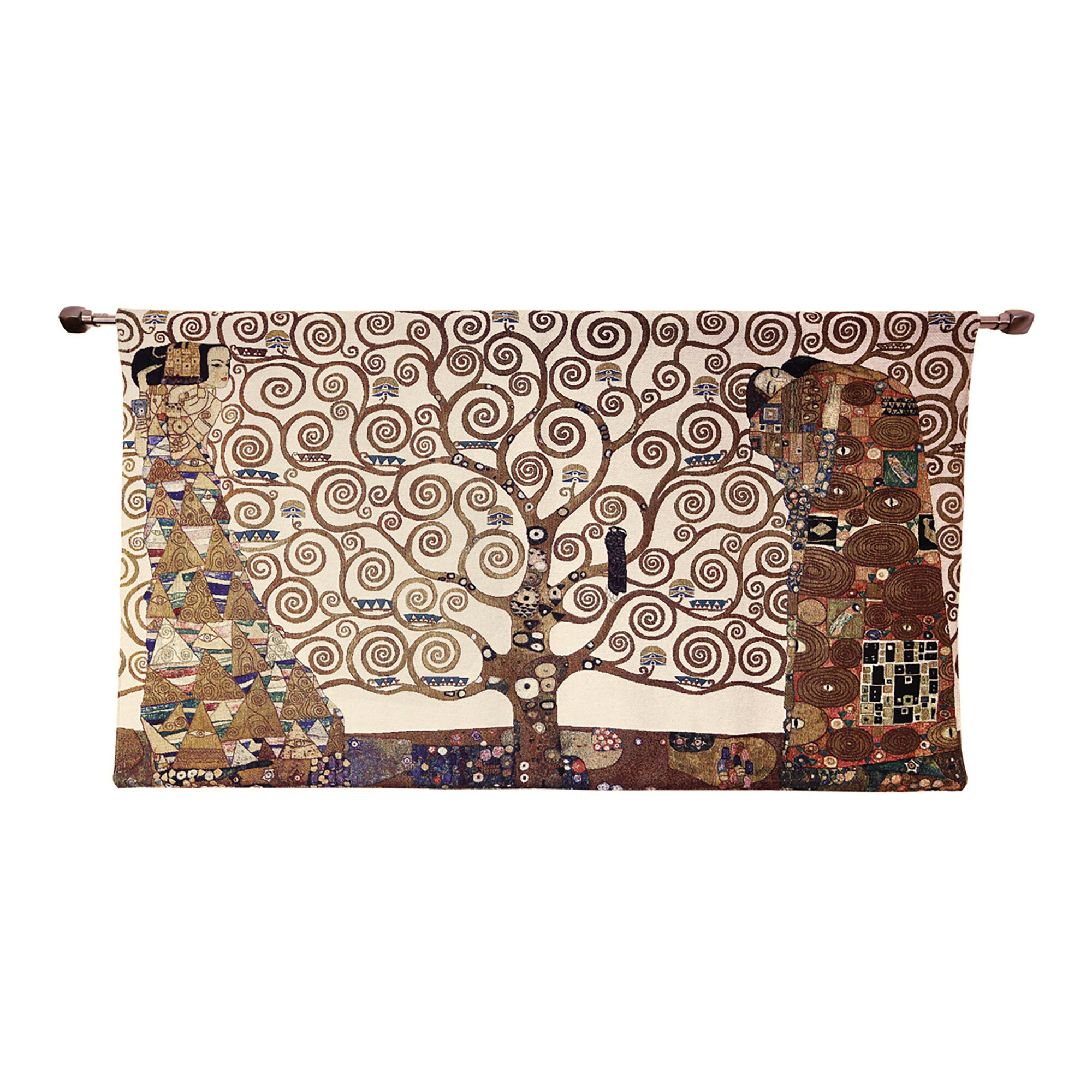 Cotton Klimt Tree Of Life Whole Wall Hanging Throughout Best And Newest Blended Fabric Klimt Tree Of Life Wall Hangings (View 4 of 20)