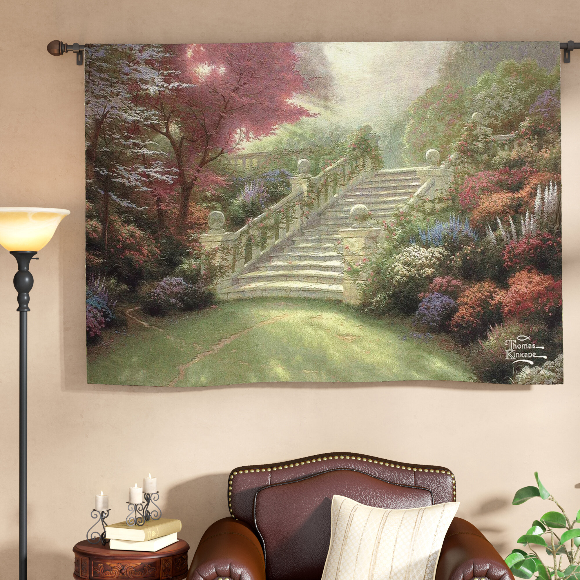 Cotton Stairway To Paradise Tapestry Within Best And Newest Blended Fabric Classic French Rococo Woven Tapestries (View 18 of 20)