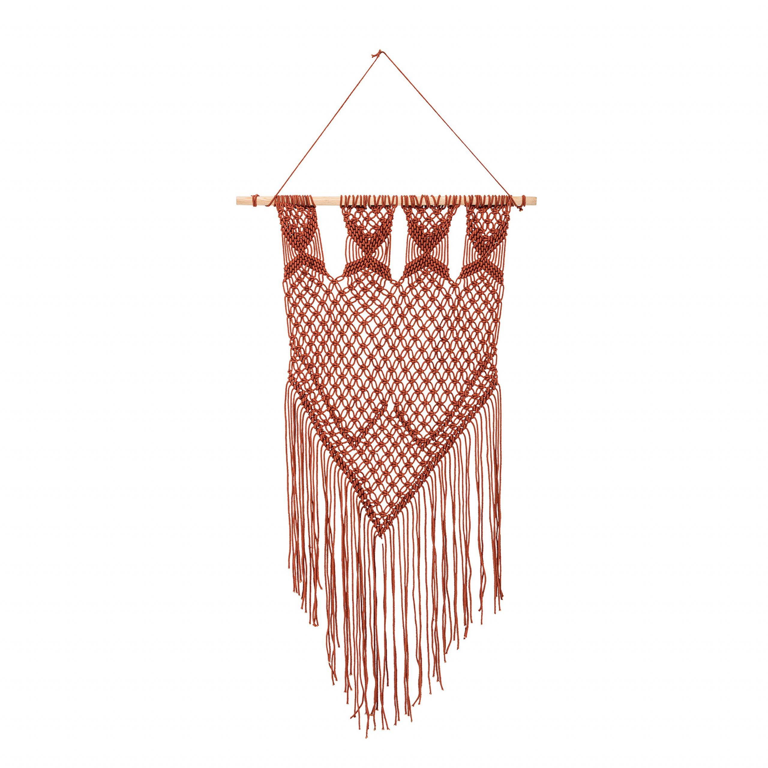 Cotton Wall Hanging With Hanging Accessories Included Intended For Current Blended Fabric Hohl Wall Hangings With Rod (View 11 of 20)