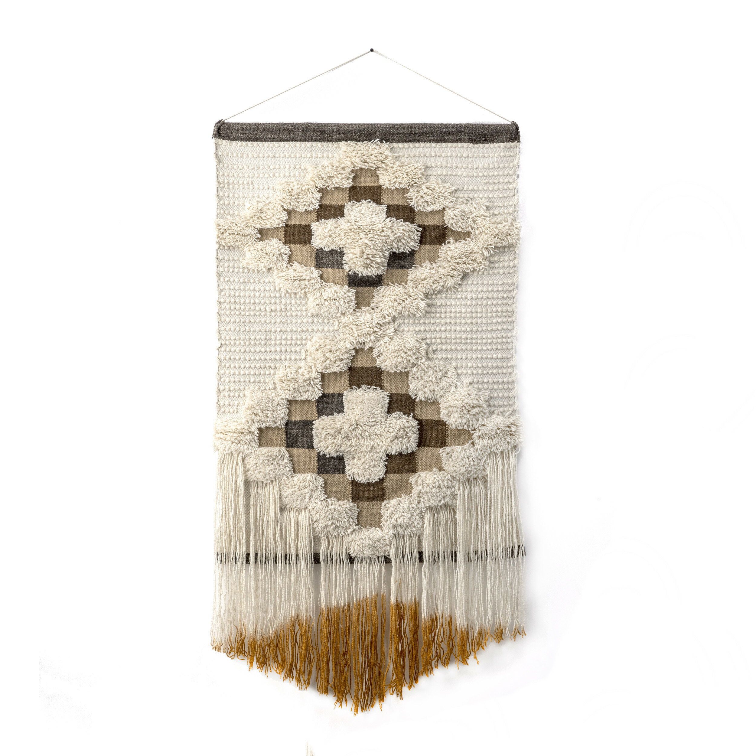 Cotton Wall Hanging With Rod Included Regarding Recent Blended Fabric Saber Wall Hangings With Rod (View 3 of 20)