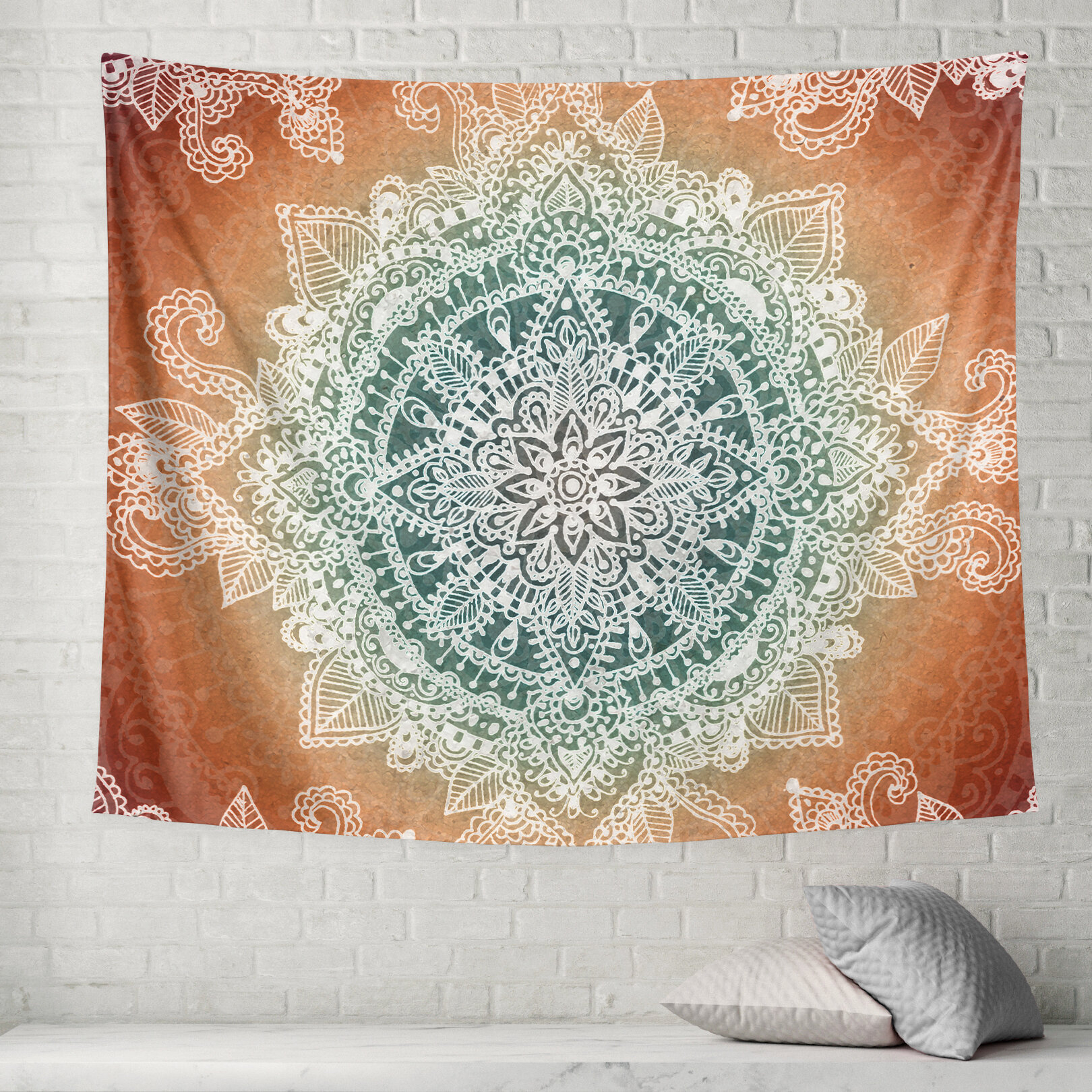 Cream & Green Tapestries You'll Love In 2021 | Wayfair For Most Current Blended Fabric Chateau Bellevue European Tapestries (View 7 of 20)