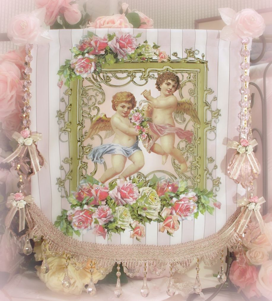 Crystal Roses Wall Tapestries | Cherub, Wall Tapestry Pertaining To Most Up To Date Roses I Tapestries (View 7 of 20)