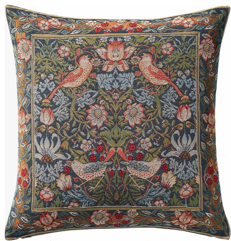 Cushion Birds Face To Face European Cushion In Most Recent Birds Face To Face I European Tapestries (View 2 of 20)