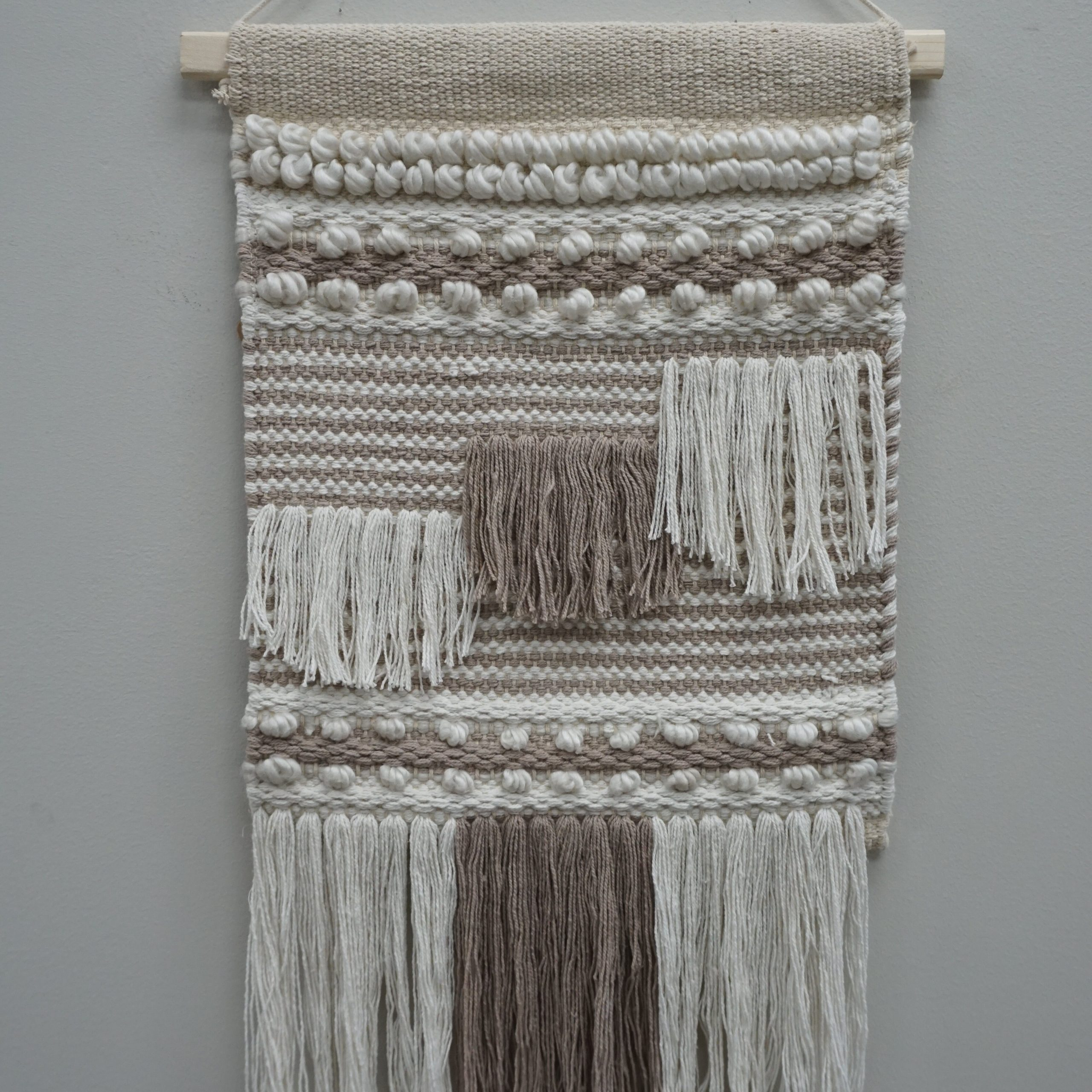 Dakota Fields Wool Wall Hanging With Hanging Accessories And Within 2017 Blended Fabric Fringed Design Woven With Rod (View 6 of 20)