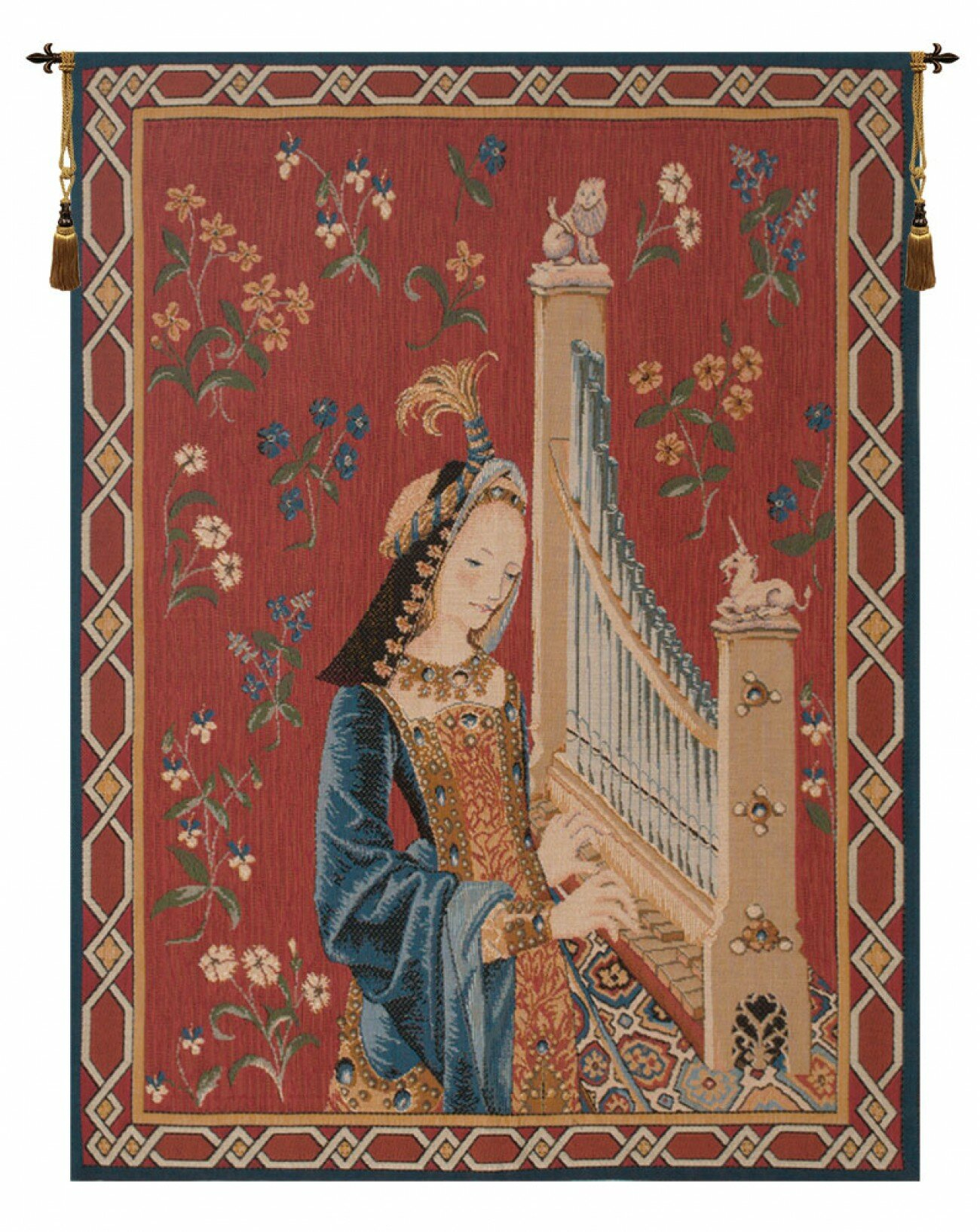 Dame A La Licorne I Tapestry In Most Up To Date Blended Fabric The Pomona Wall Hangings (View 6 of 20)