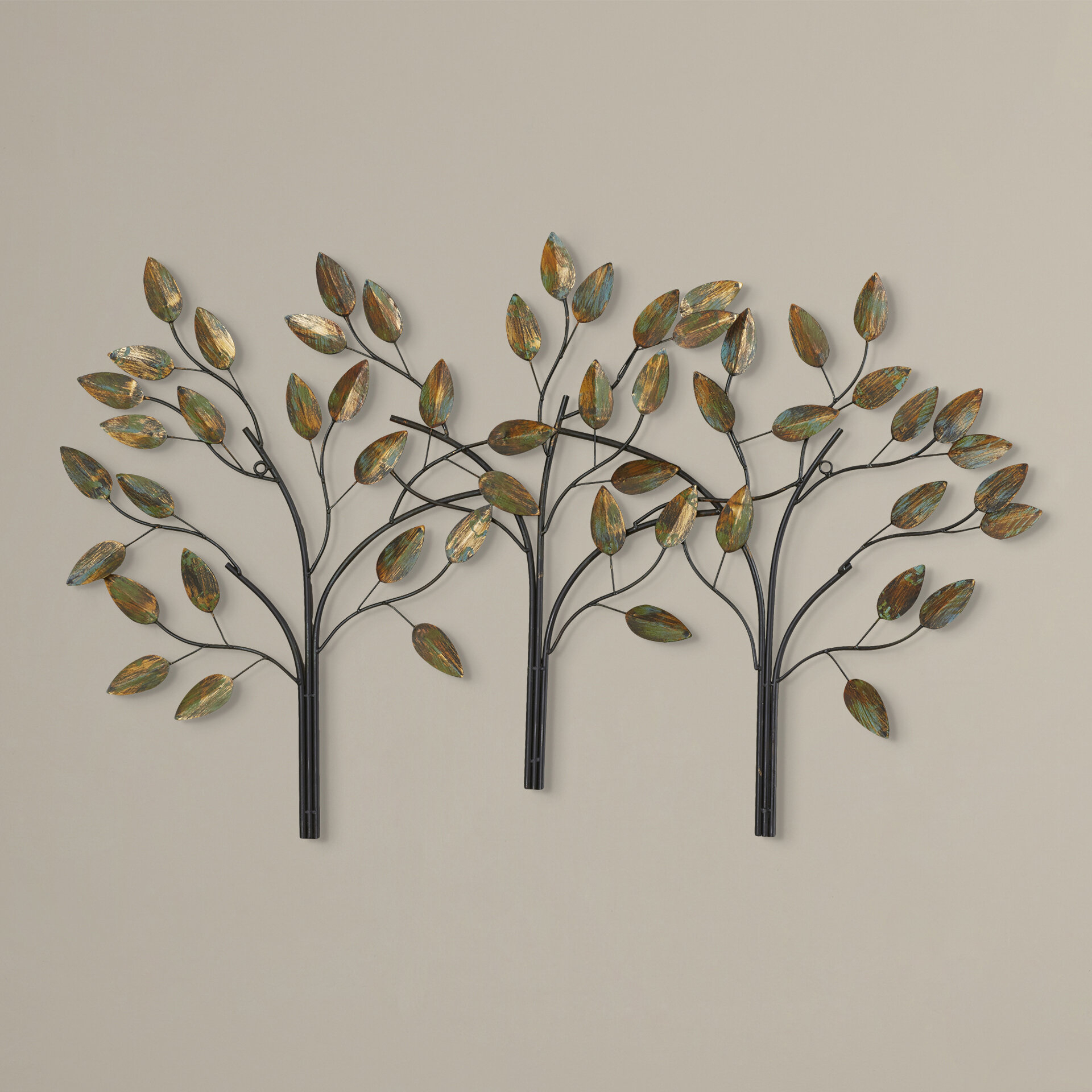 Desford Leaf Wall Décor Within Current Blended Fabric Leaf Wall Hangings (View 15 of 20)