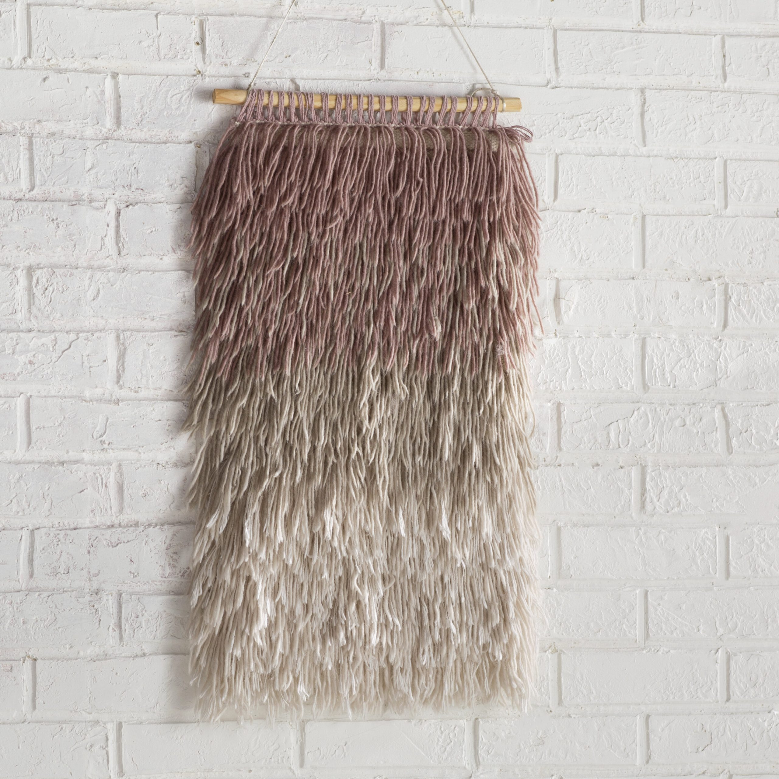 Destrie Wall Hanging With Rod Included For Most Up To Date Blended Fabric Wall Hangings With Rod Included (View 11 of 20)