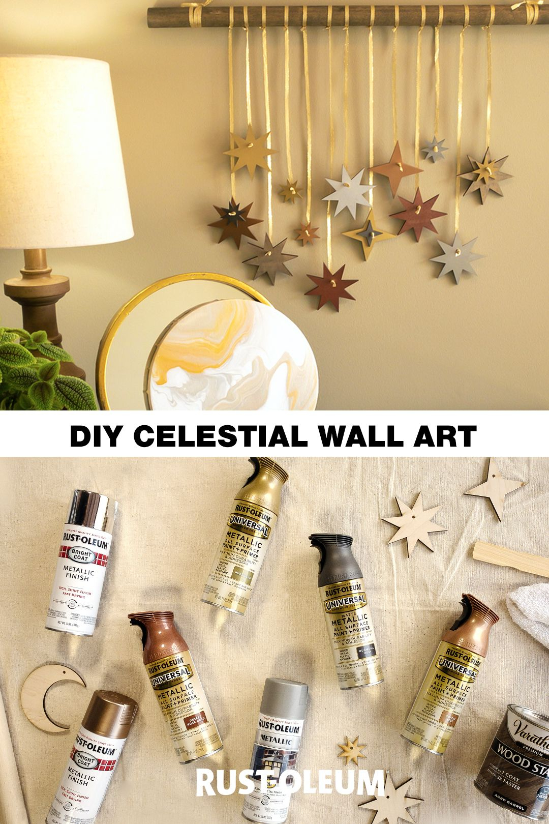 Diy Celestial Wall Art | Diy Decor Projects, Diy Crafts, Crafts With Regard To Newest Blended Fabric Celestial Wall Hangings (set Of 3) (View 18 of 20)