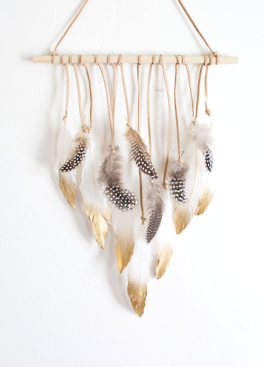 Diy Feather Wall Hanging – Homey Oh My Pertaining To Most Popular Peace I Leave With You Wall Hangings (View 18 of 20)