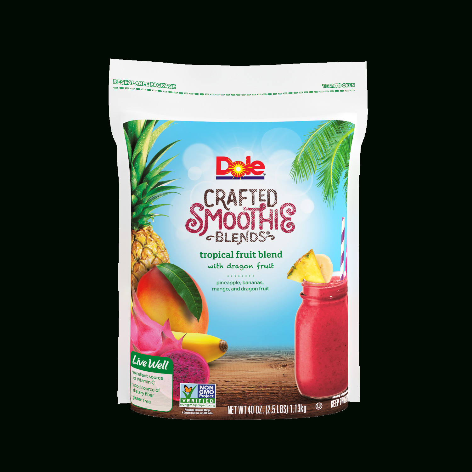 Dole Crafted Smoothie Blends, Tropical Fruit Blend With Dragon Fruit, 40 Oz. ( (View 12 of 20)