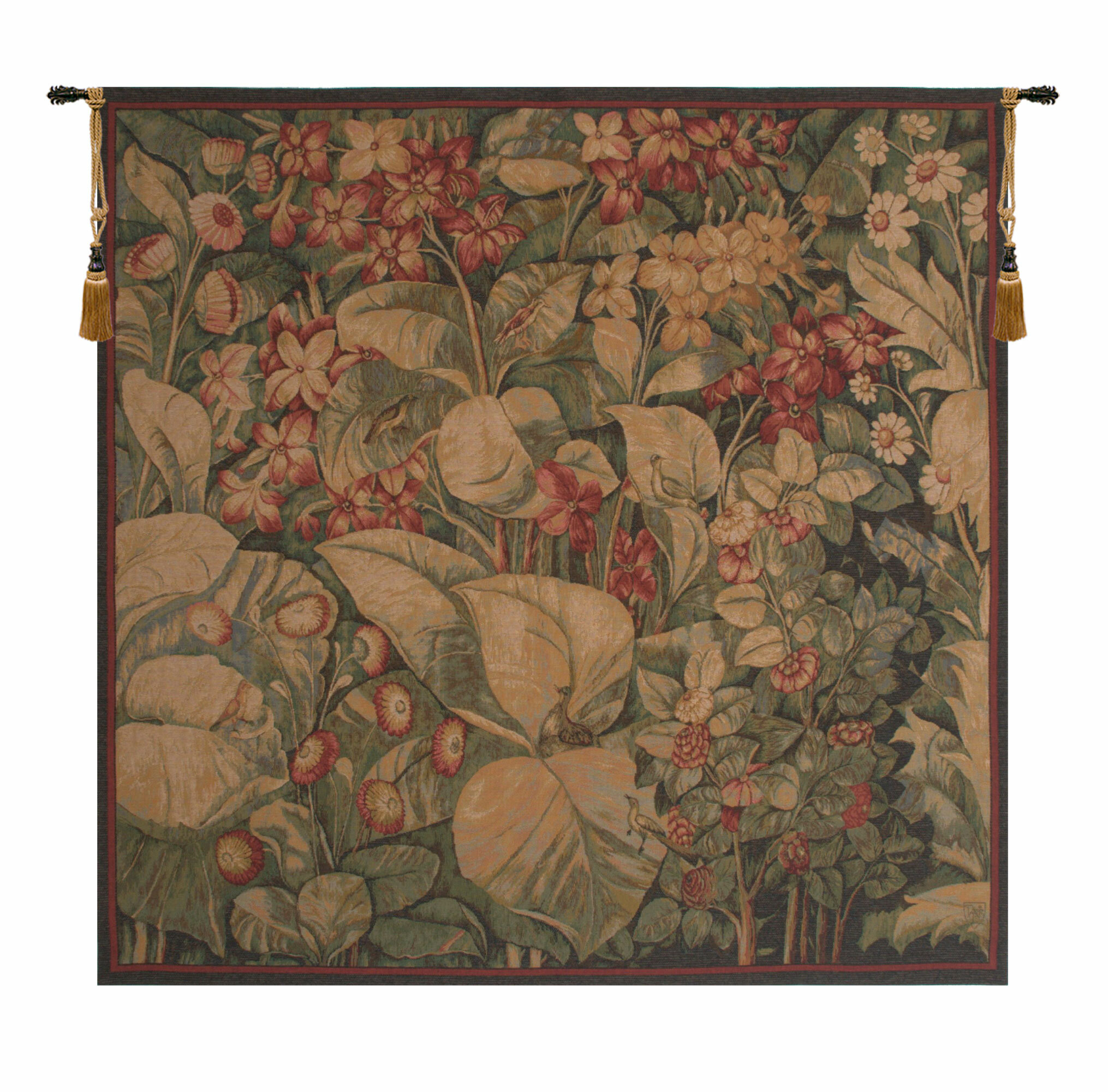 European Aristoloches Tapestry Intended For Most Popular Blended Fabric Ethereal Days Chinoiserie Wall Hangings With Rod (View 6 of 20)
