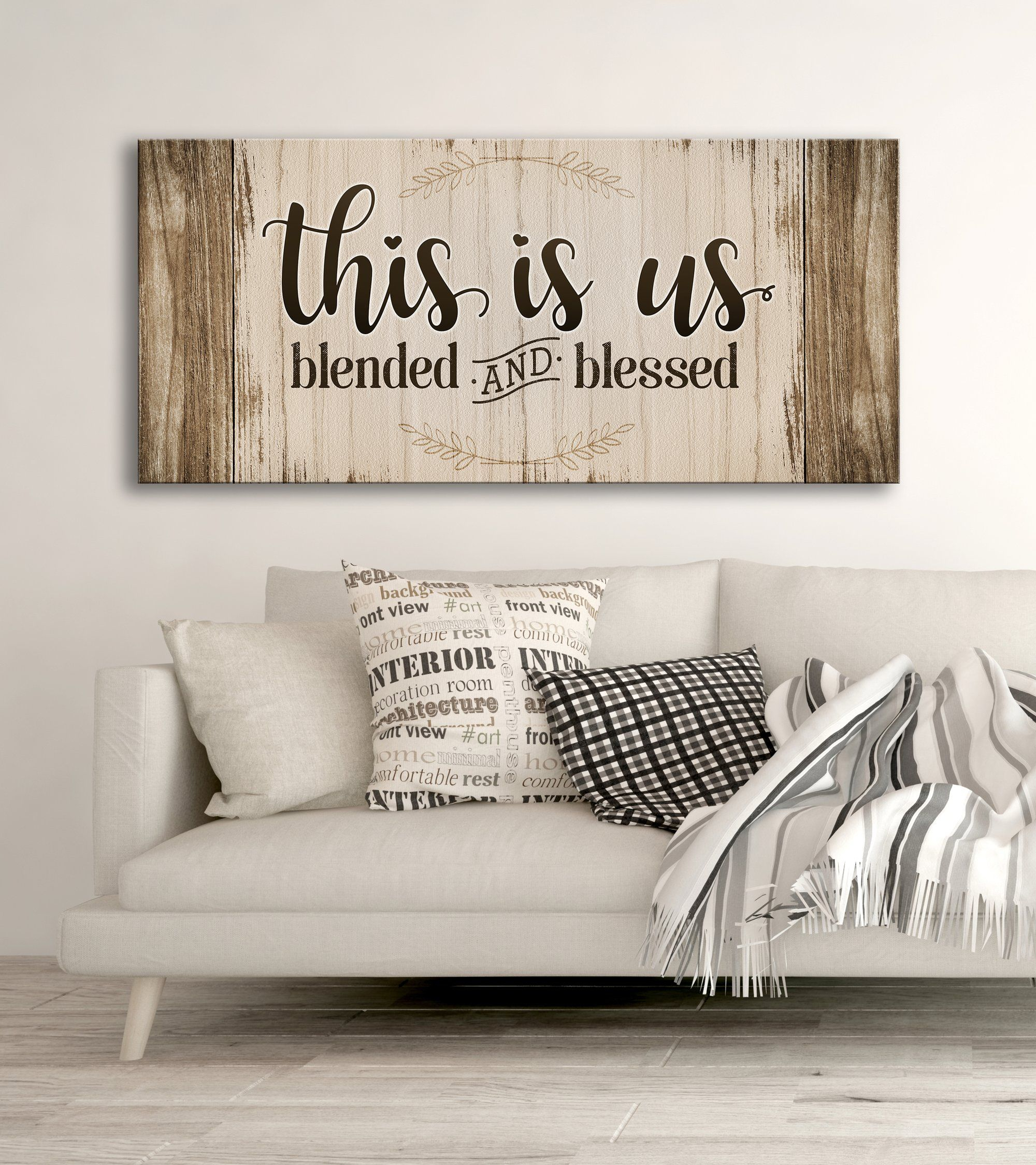 Family Wall Art: This Is Us Blended And Blessed (wood Frame Inside Best And Newest Blended Fabric Salty But Sweet Wall Hangings (View 9 of 20)