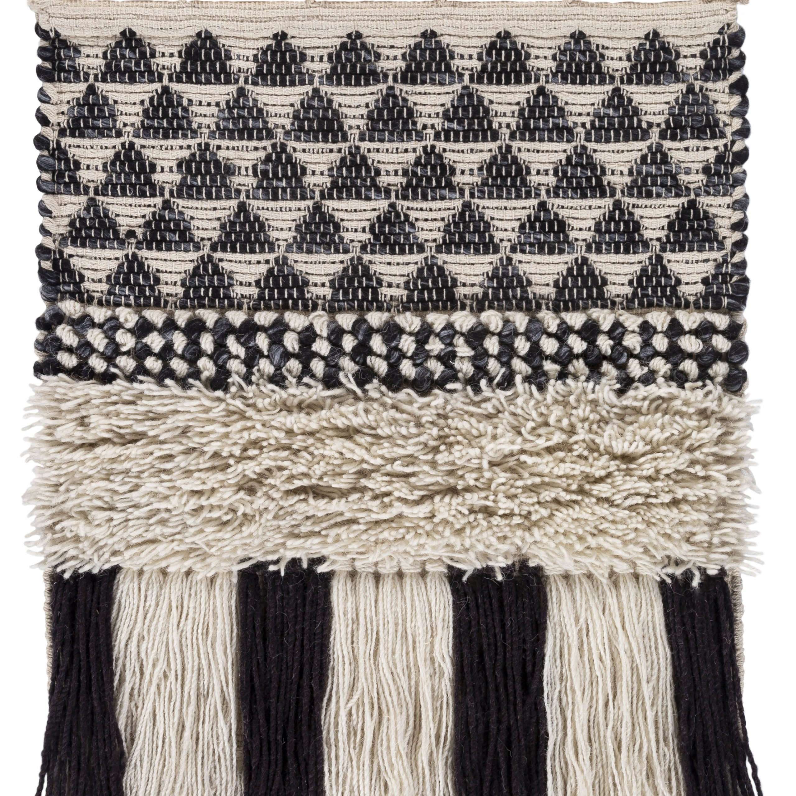 Feickert Wool Wall Hanging With Rod Included Within Most Recent Blended Fabric Fringed Design Woven With Rod (View 9 of 20)