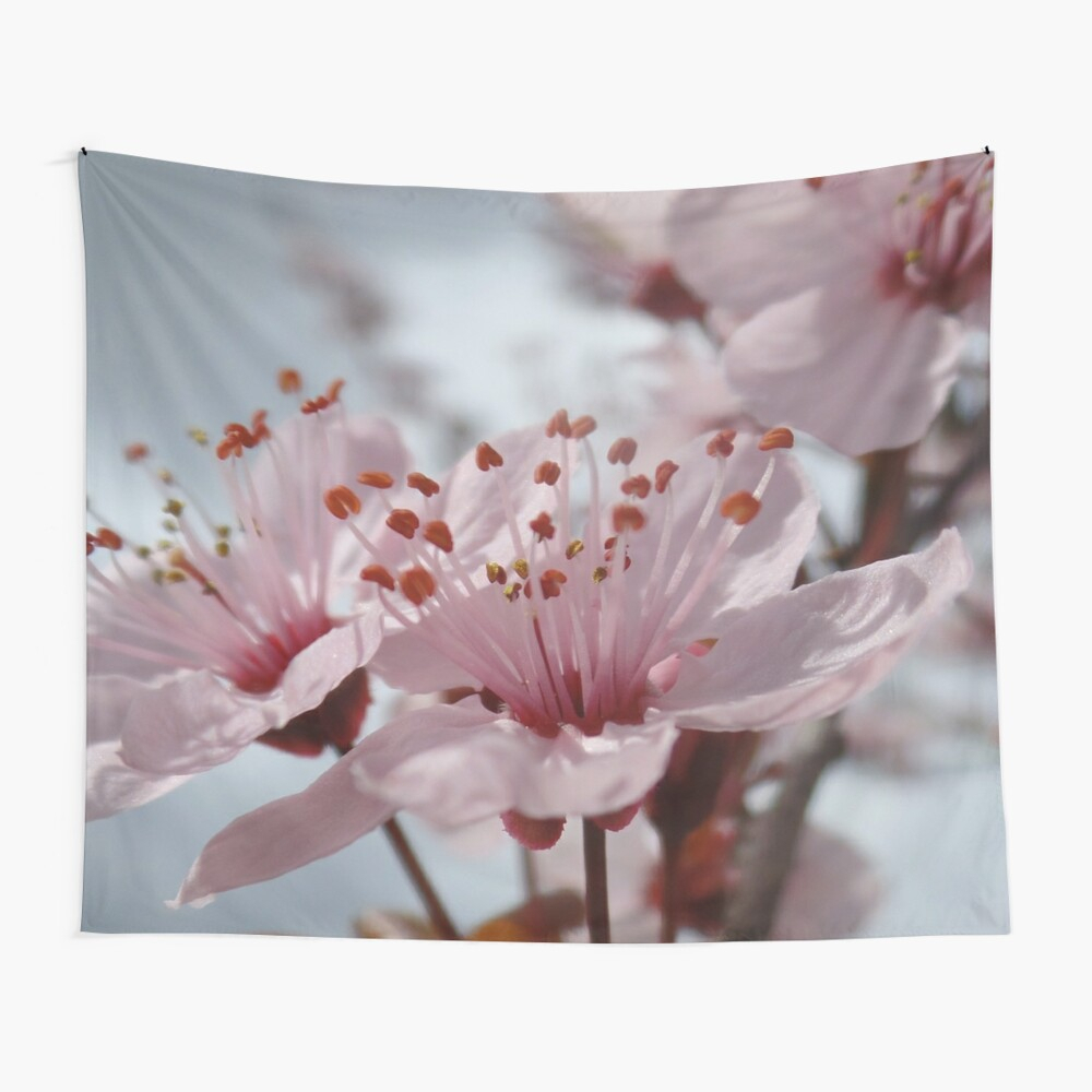 "Finally Spring! ~ Pink Cherry Blossom"" Tapestry For Newest Blended Fabric Spring Blossom Tapestries (View 6 of 20)"