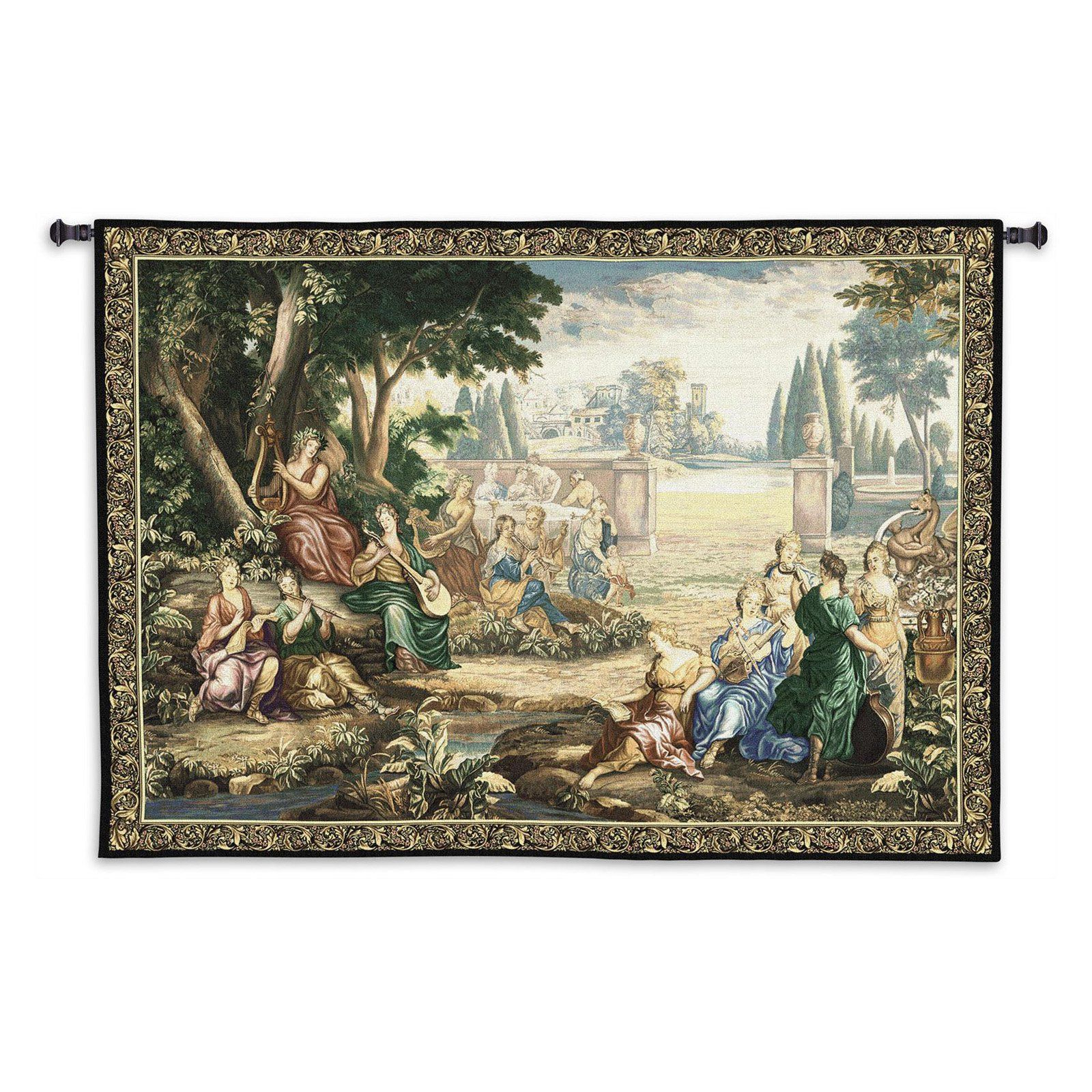 Fine Art Tapestries Romantic Pastoral Scene Cotton And Wool Throughout 2017 Grandes Armoiries I European Tapestries (View 18 of 20)