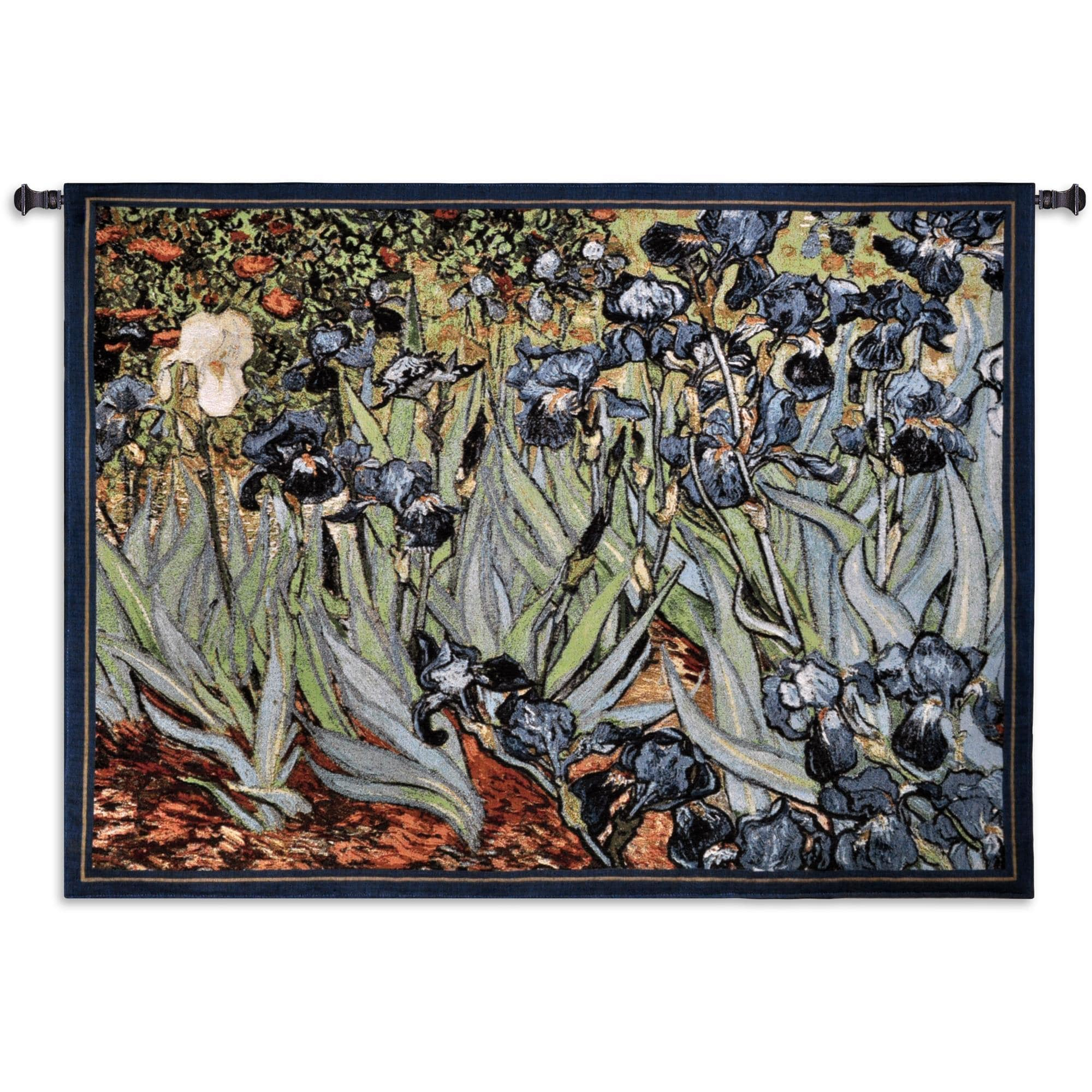 Finearttapestries 1344 Wh Irises Van Gogh Wall Tapestry – Walmart Throughout Most Recently Released Blended Fabric Irises Tapestries (View 6 of 20)