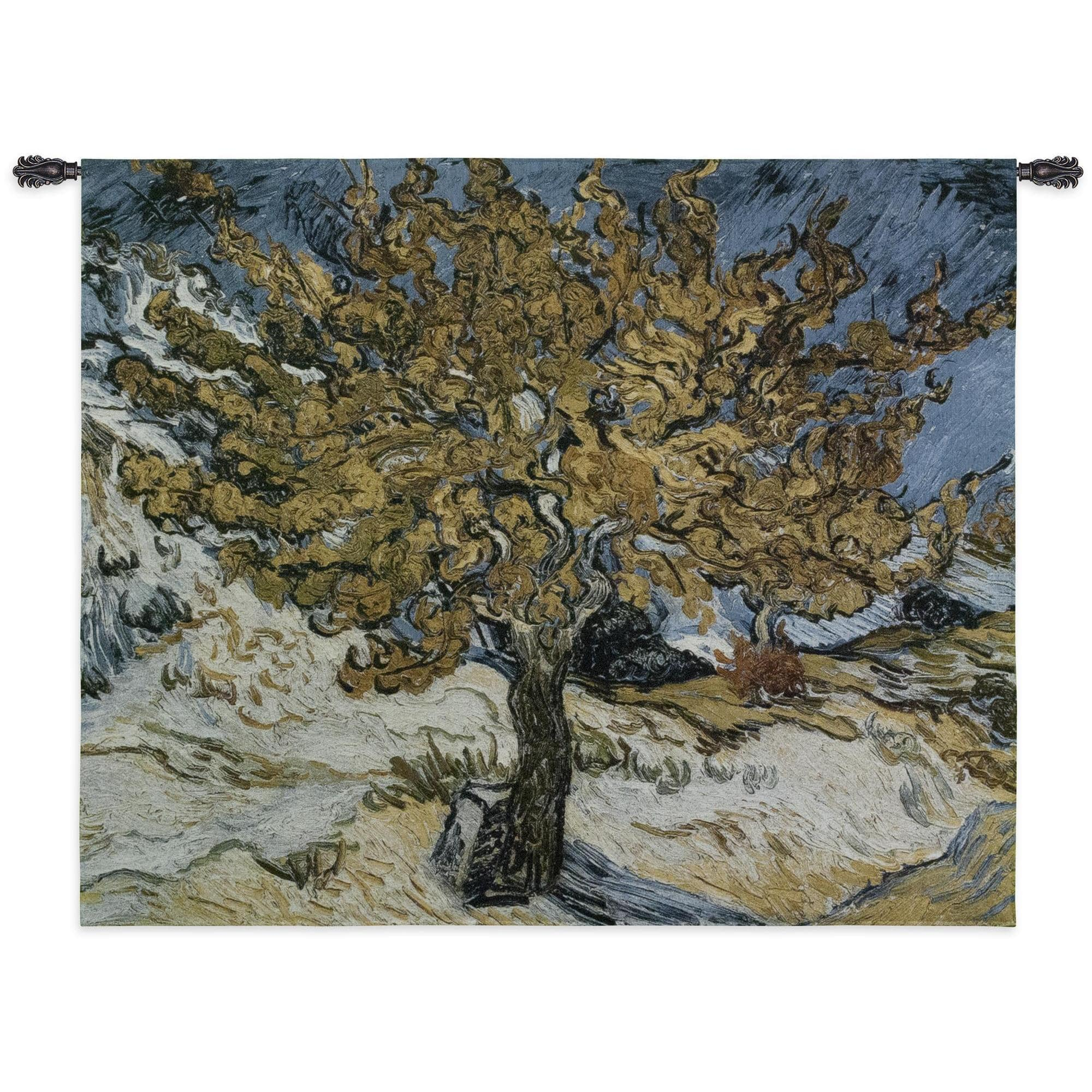 Finearttapestries 3085 Wh The Mulberry Tree Wall Tapestry Pertaining To 2017 Blended Fabric The Mulberry Tree – Van Gogh Wall Hangings (View 4 of 20)