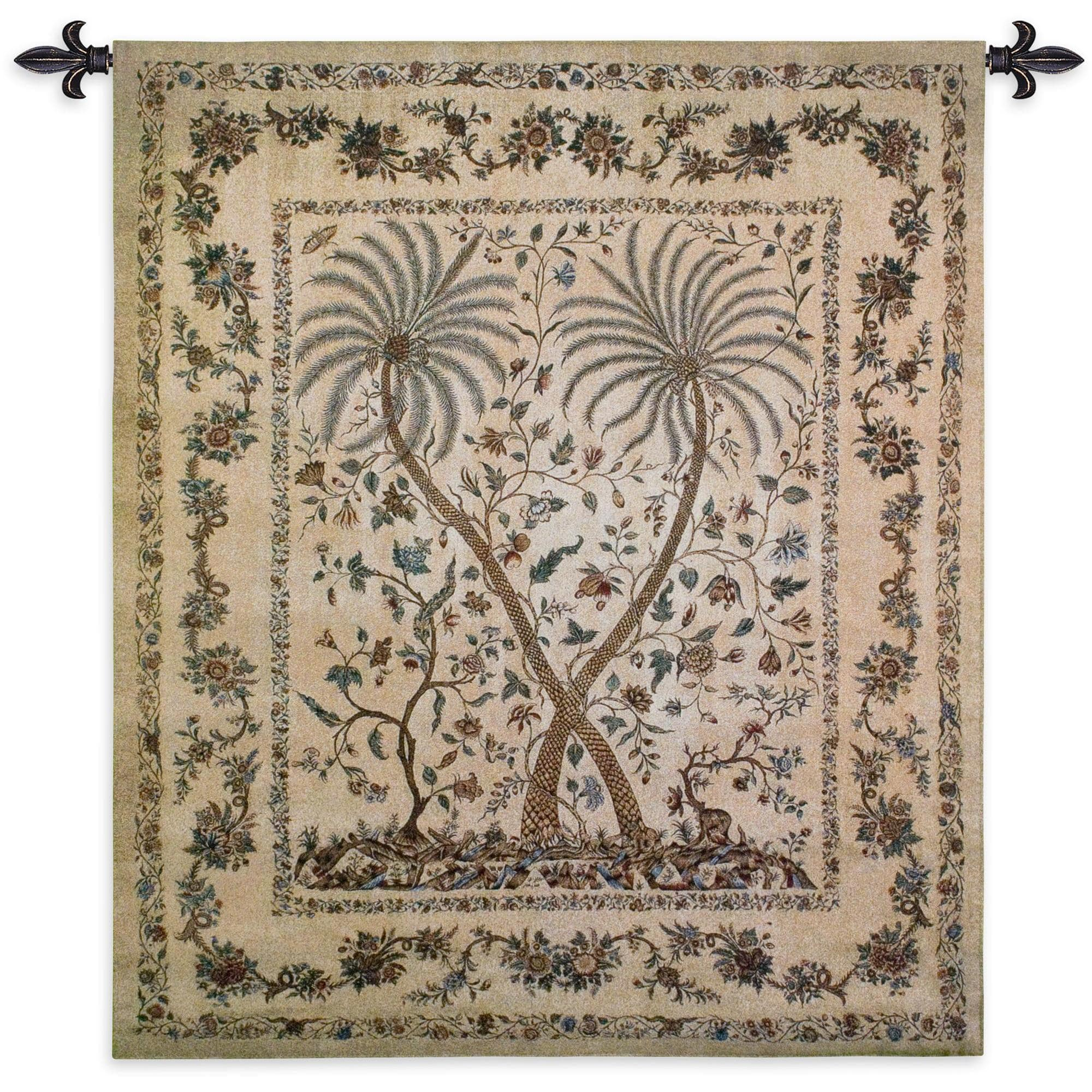 Finearttapestries 3145 Wh Palampore Wall Tapestry Regarding Current Blended Fabric The Broken Chain Tapestries And Wall Hangings (View 3 of 20)
