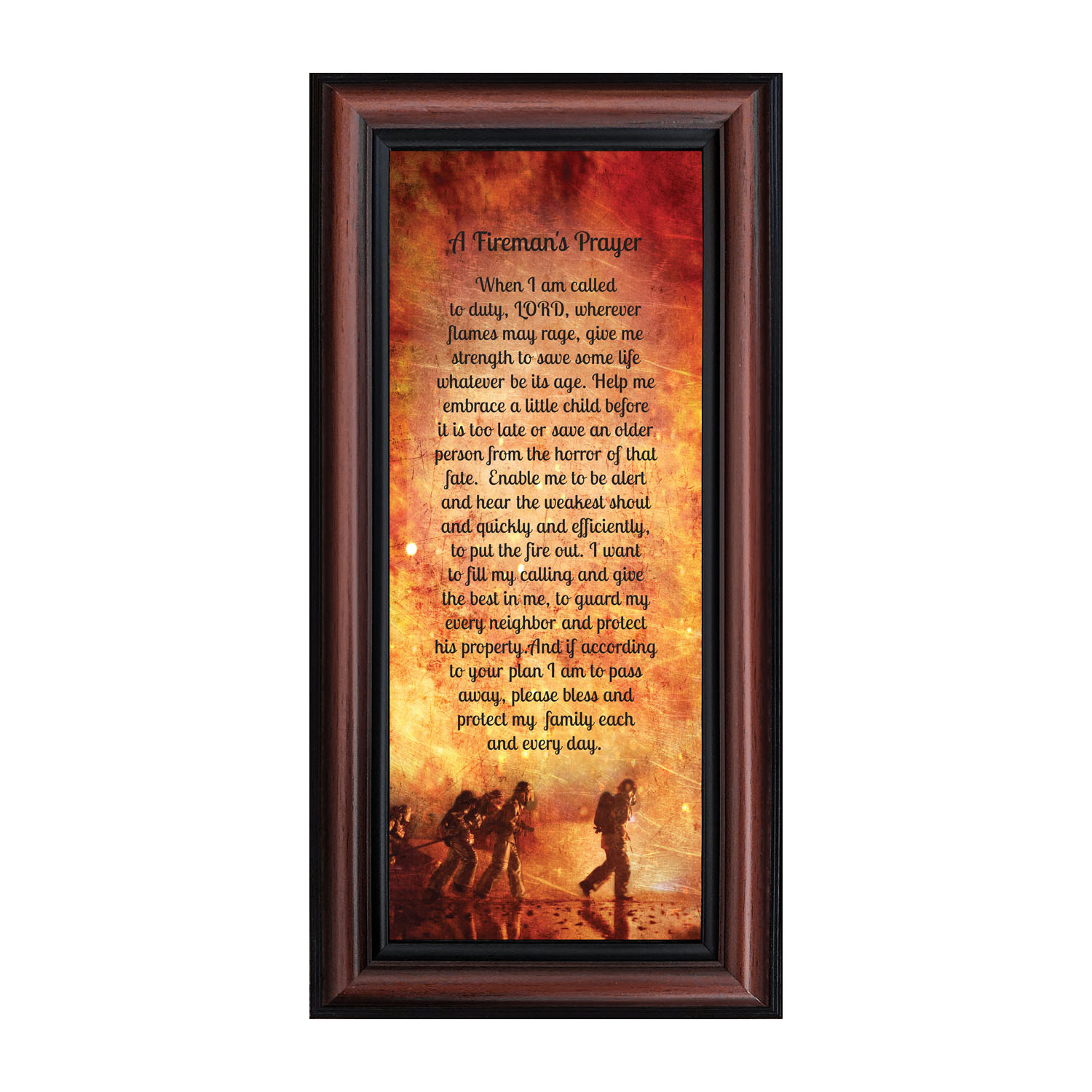 Firefighter Gifts For Men And Women, Fire Academy Graduation Gift, Fire Fighter Gifts Or Firehouse Decor, A Fireman's Prayer Framed Wall Art For Home In Newest A Fireman Prayer Wall Hangings (View 9 of 20)