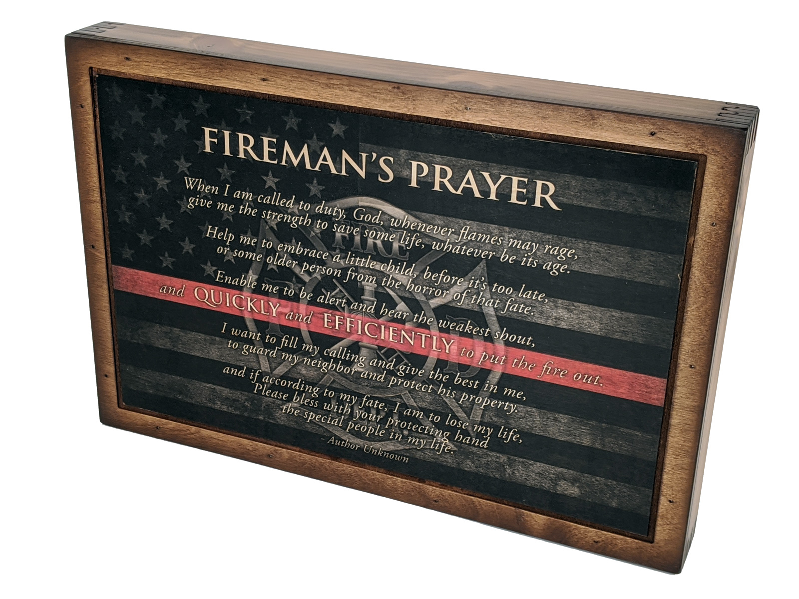 Firefighter Prayer – Wall Art – Relic Wood For Best And Newest A Fireman Prayer Wall Hangings (View 8 of 20)