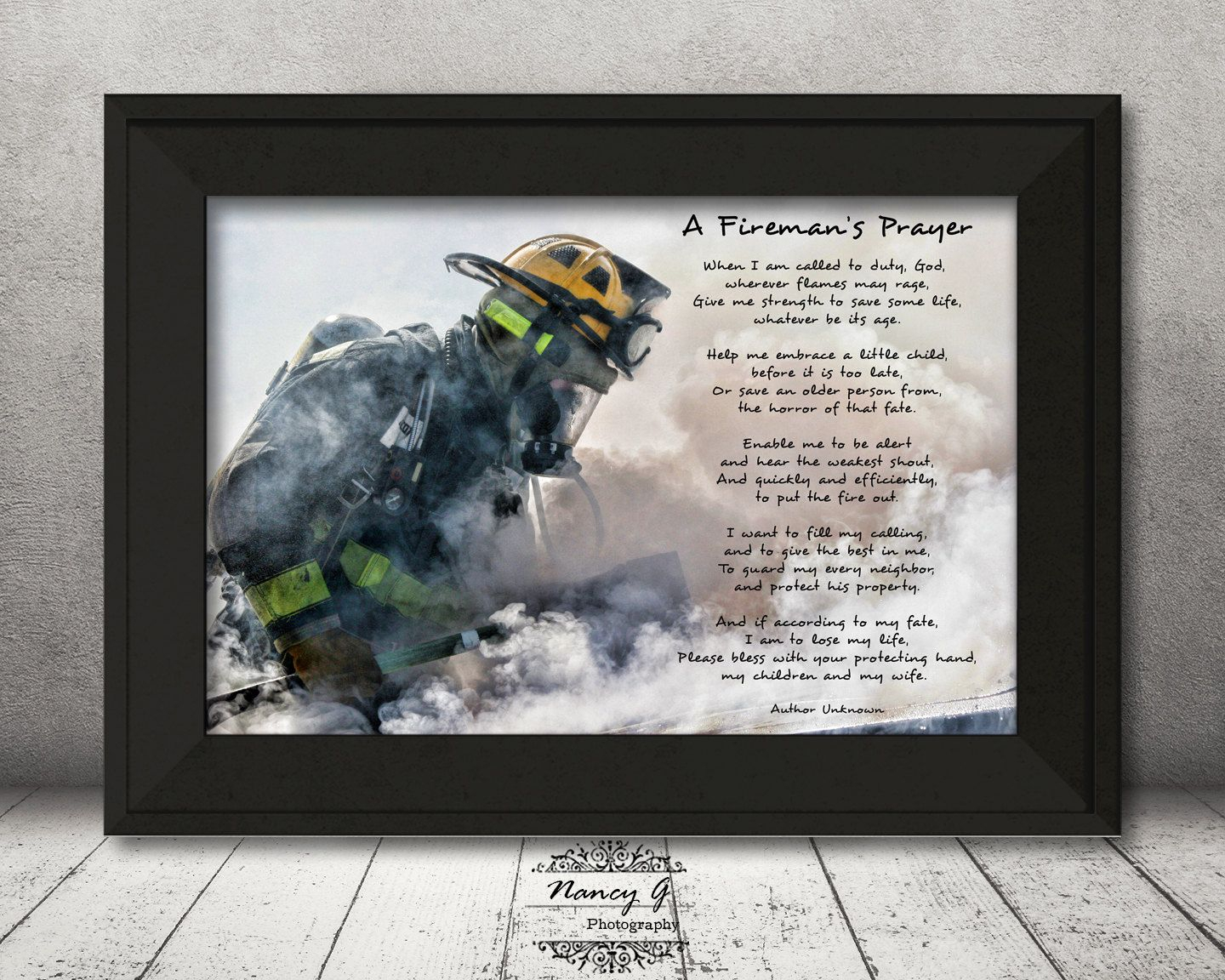 Featured Photo of A Fireman Prayer Wall Hangings