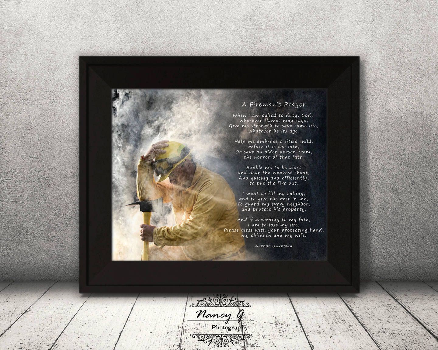 Firemans Prayer Firefighter Prayer Print Firefighter Wall With Regard To Most Recently Released A Fireman Prayer Wall Hangings (View 7 of 20)