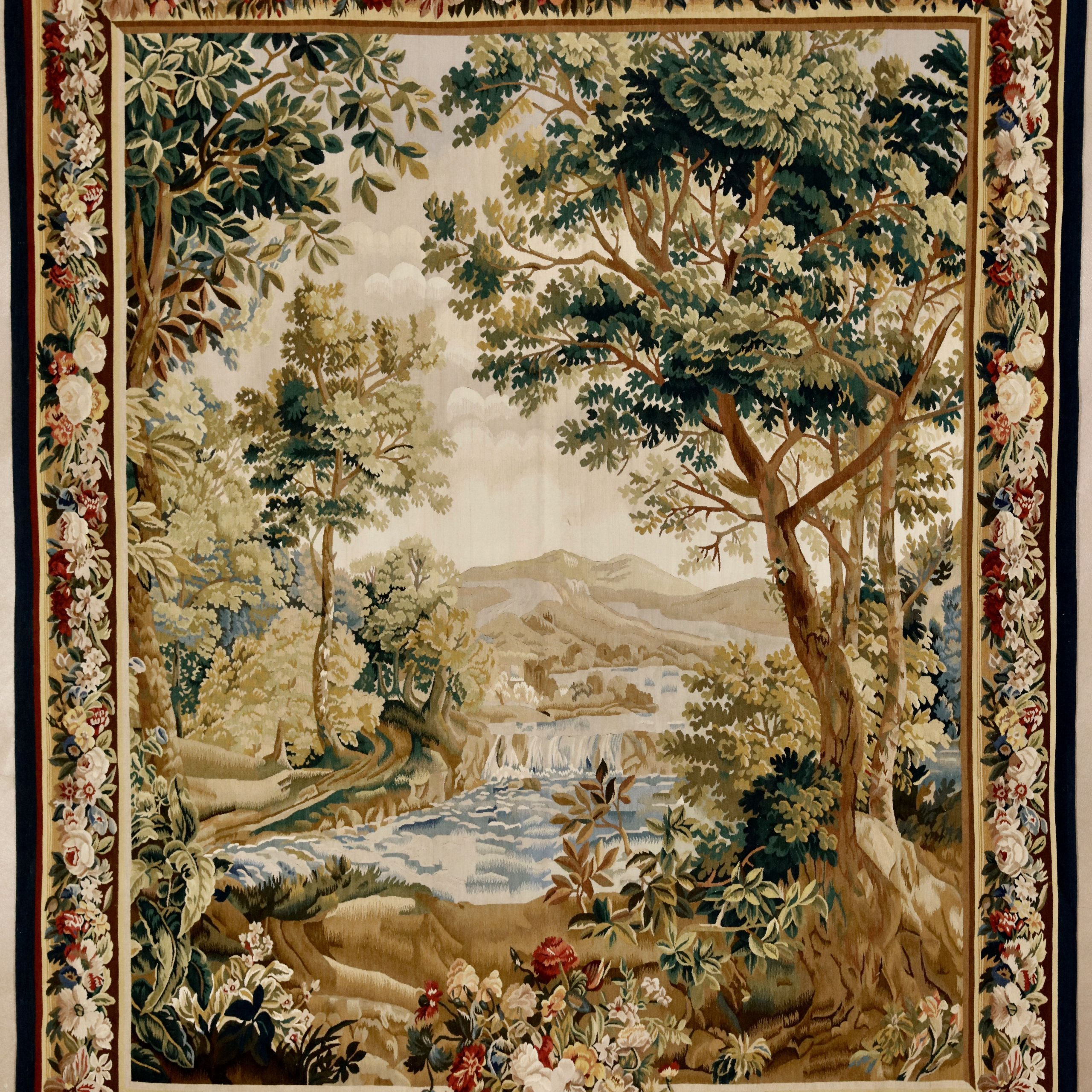 """Flemish Design Verdure Tapestry, 6'5"""" X 7'10""""david E With Most Current Grandes Armoiries I European Tapestries (View 14 of 20)"""
