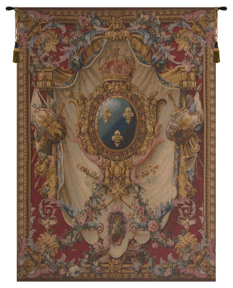 Grandes Armoiries Red European Tapestry Wall Hanging, B – H 58 X W 44 For Most Popular Grandes Armoiries I European Tapestries (View 2 of 20)