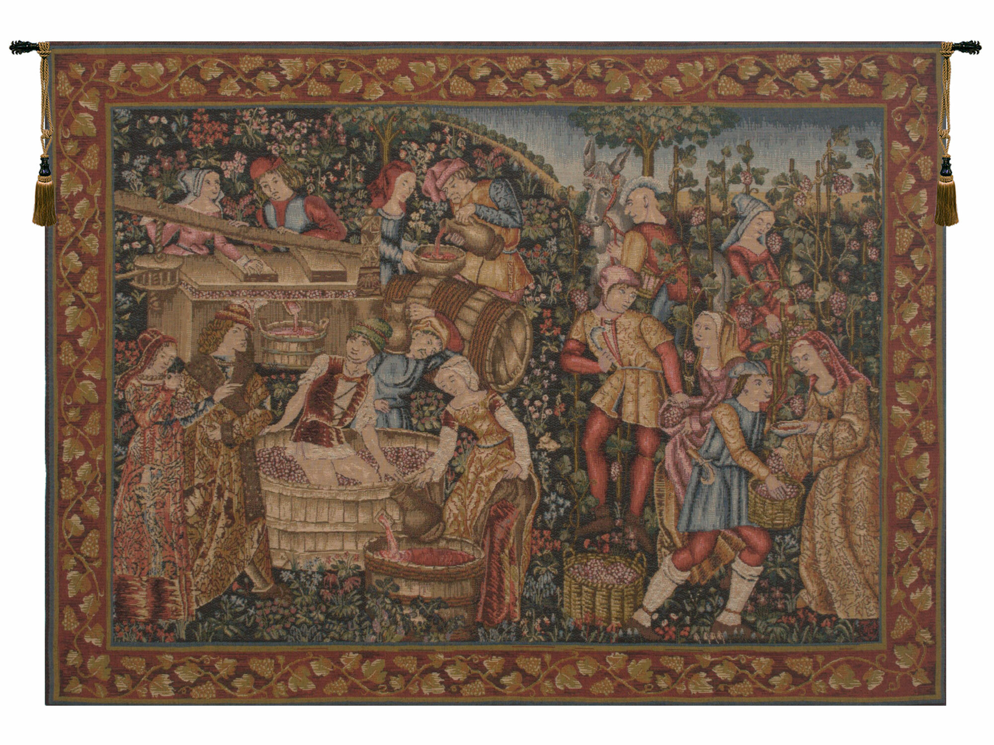 Grandes Vendanges European Tapestry With Regard To Latest Lion I European Tapestries (View 16 of 20)