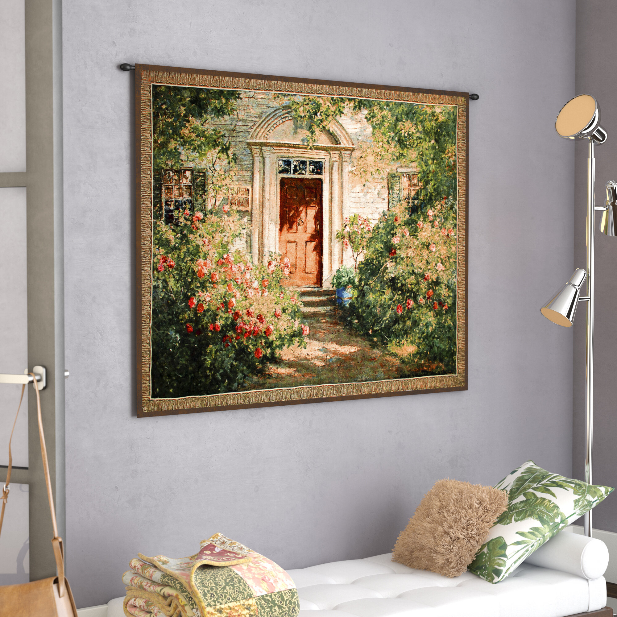 Grandma's Doorway Tapestry With Most Popular Blended Fabric Gallanteries European Wall Hangings (View 3 of 20)