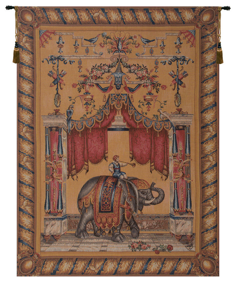 Grotesque Elephant European Tapestry Wall Hanging Regarding Best And Newest Grandes Armoiries I European Tapestries (View 4 of 20)